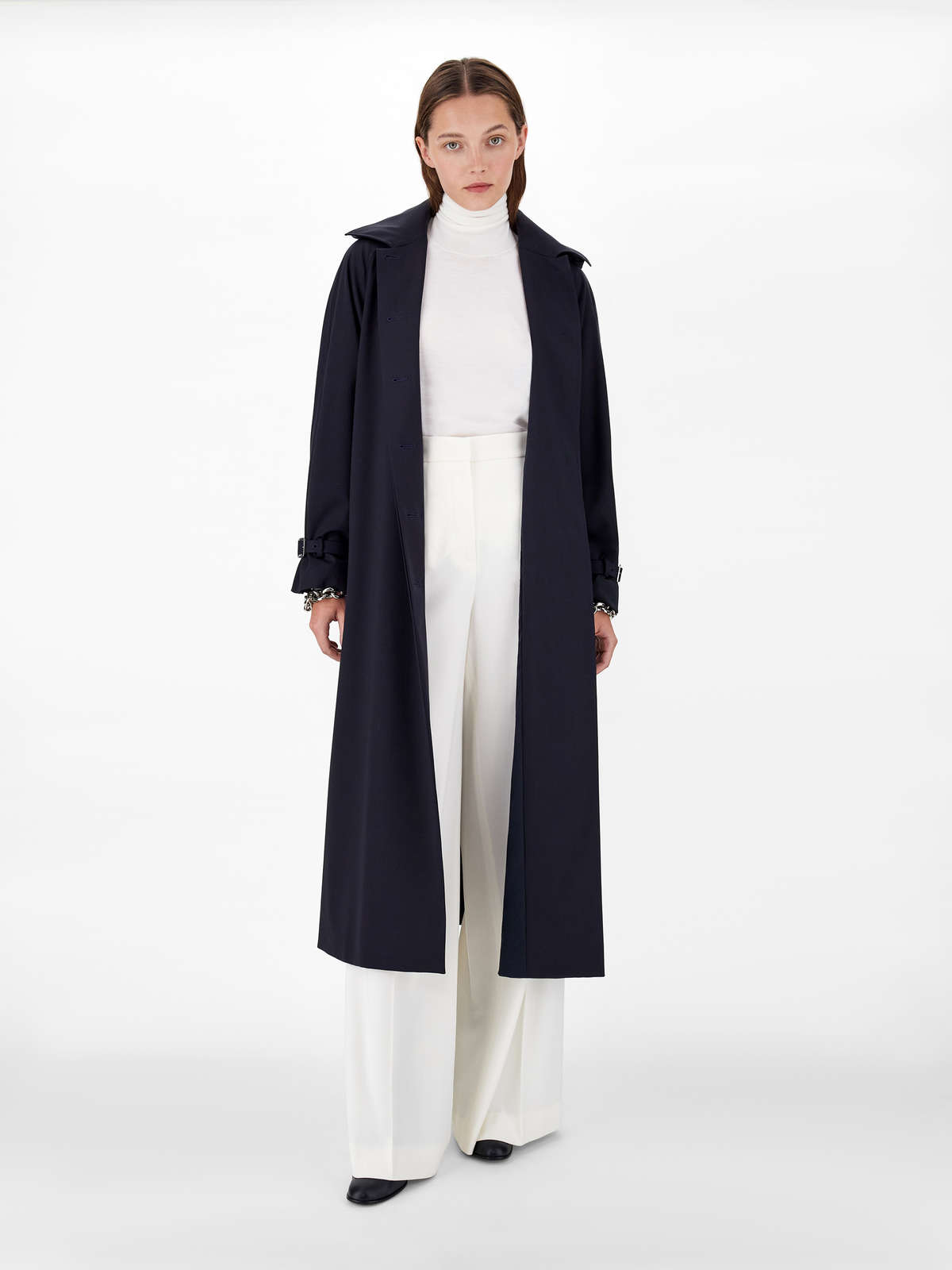 Waterproof trench coat in pure wool twill - Max Mara