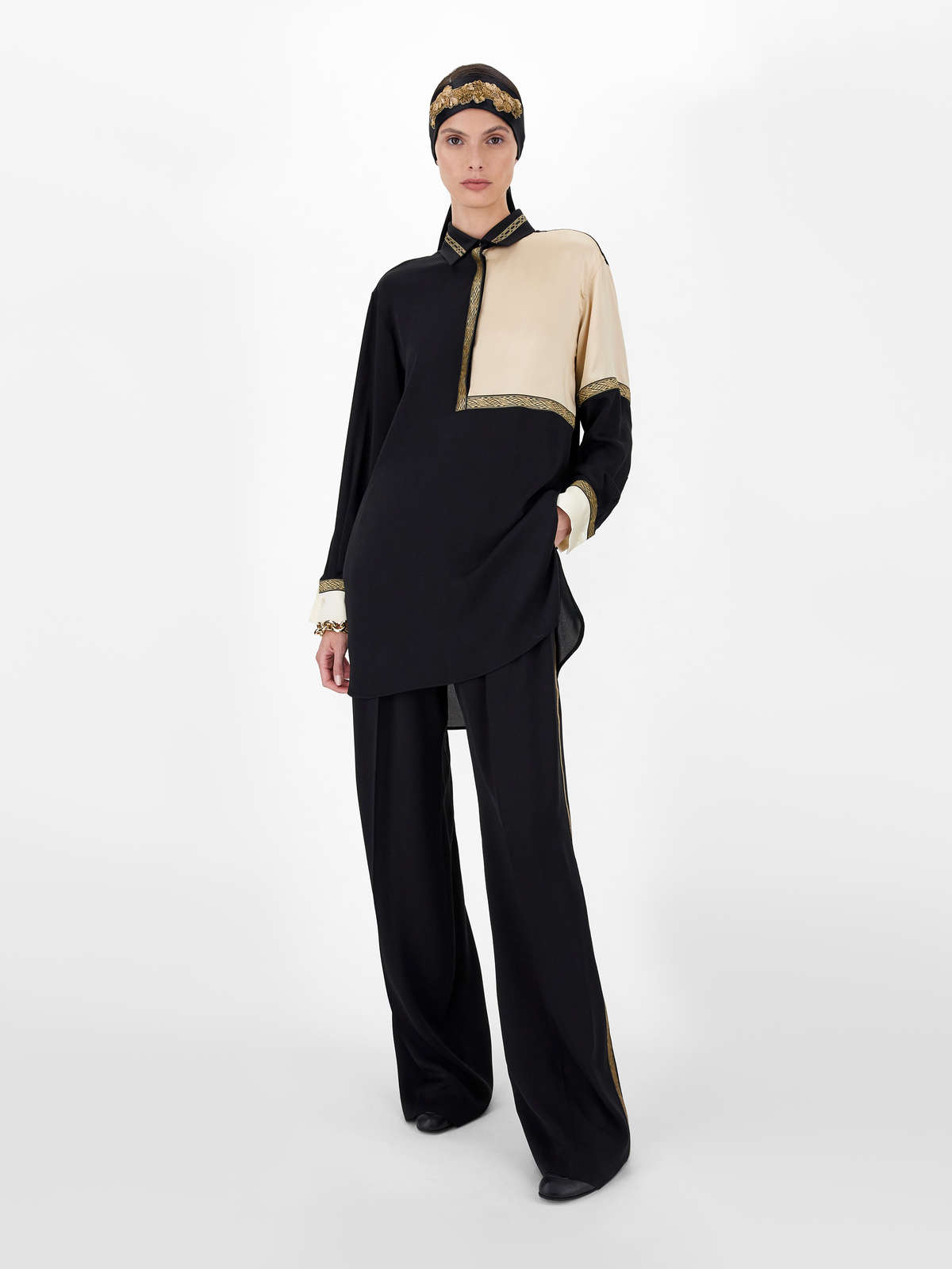 Pure silk charmeuse trousers - Max Mara