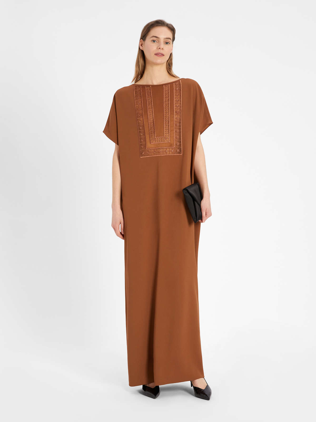 Abito Caftano In Envers Satin - Max Mara