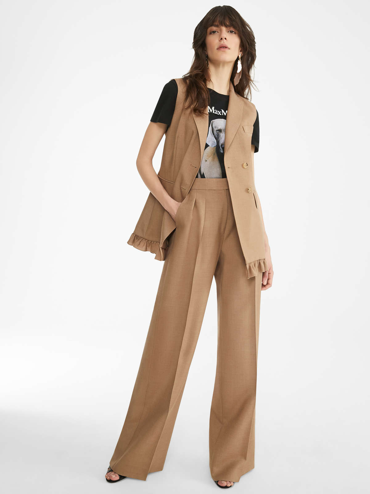 Vest In Mohair And Silk Canvas - Max Mara