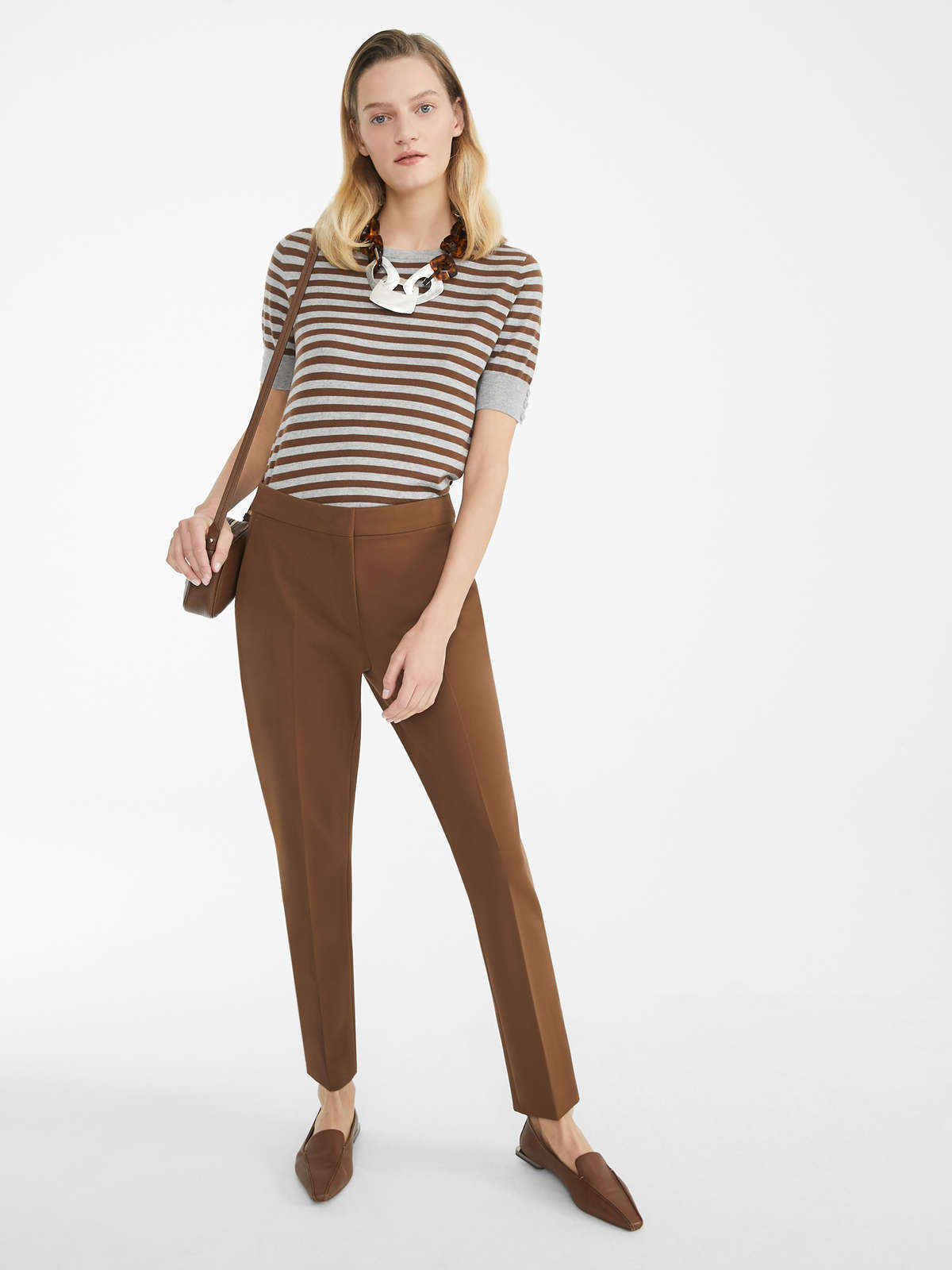 Pantaloni In Jersey Di Viscosa - Max Mara