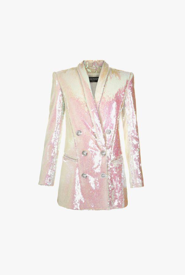 Short Dress A Jacket With Sequins - Balmain