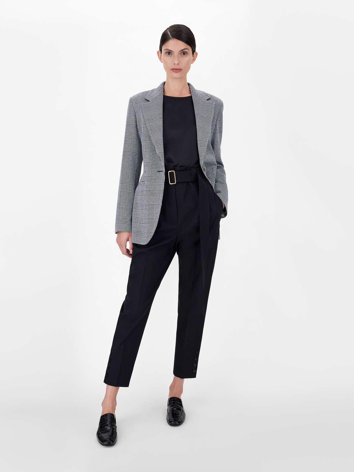 Cotton jersey and jacquard viscose blazer - Max Mara