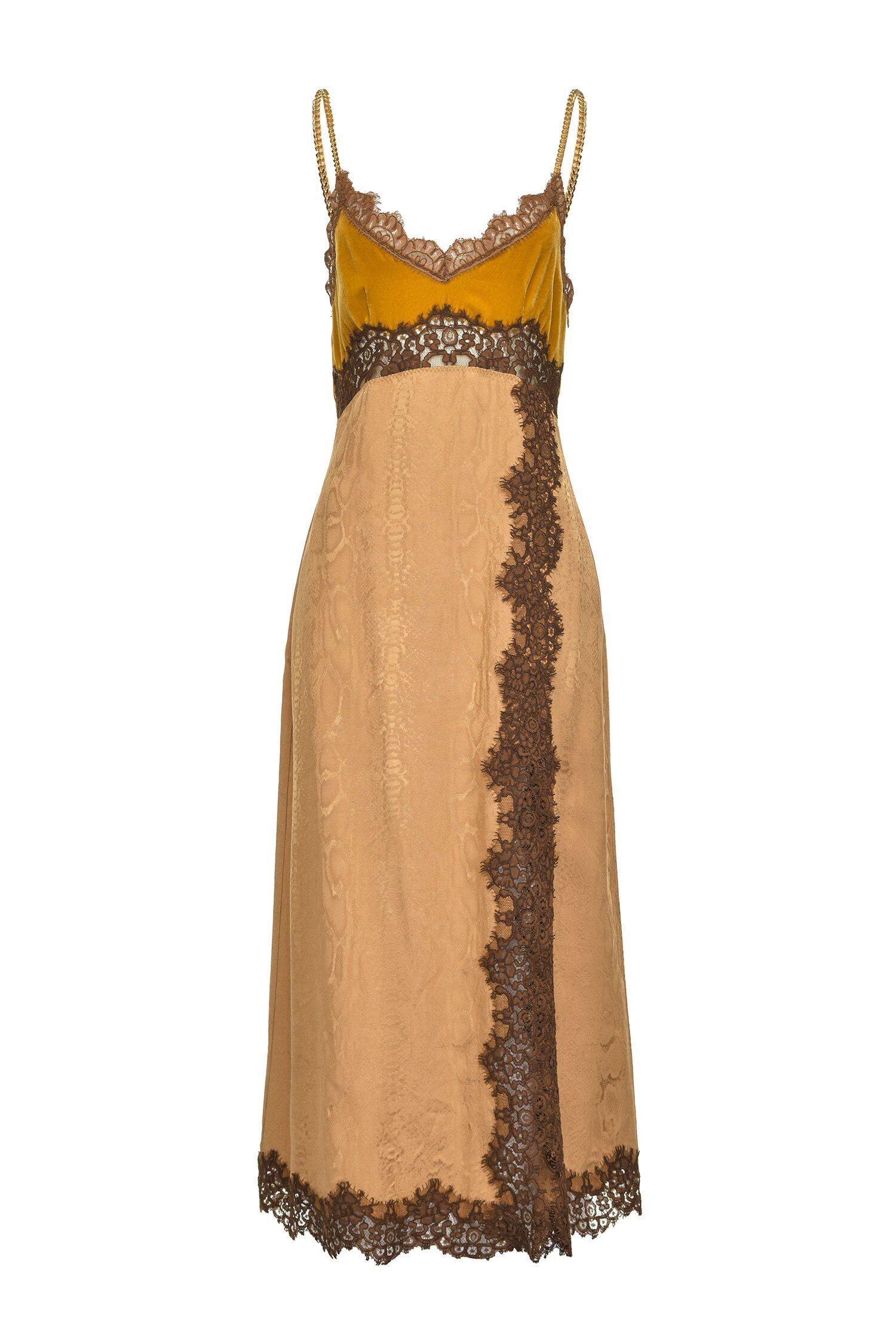Jacquard Lingerie Dress Python Design - Pinko