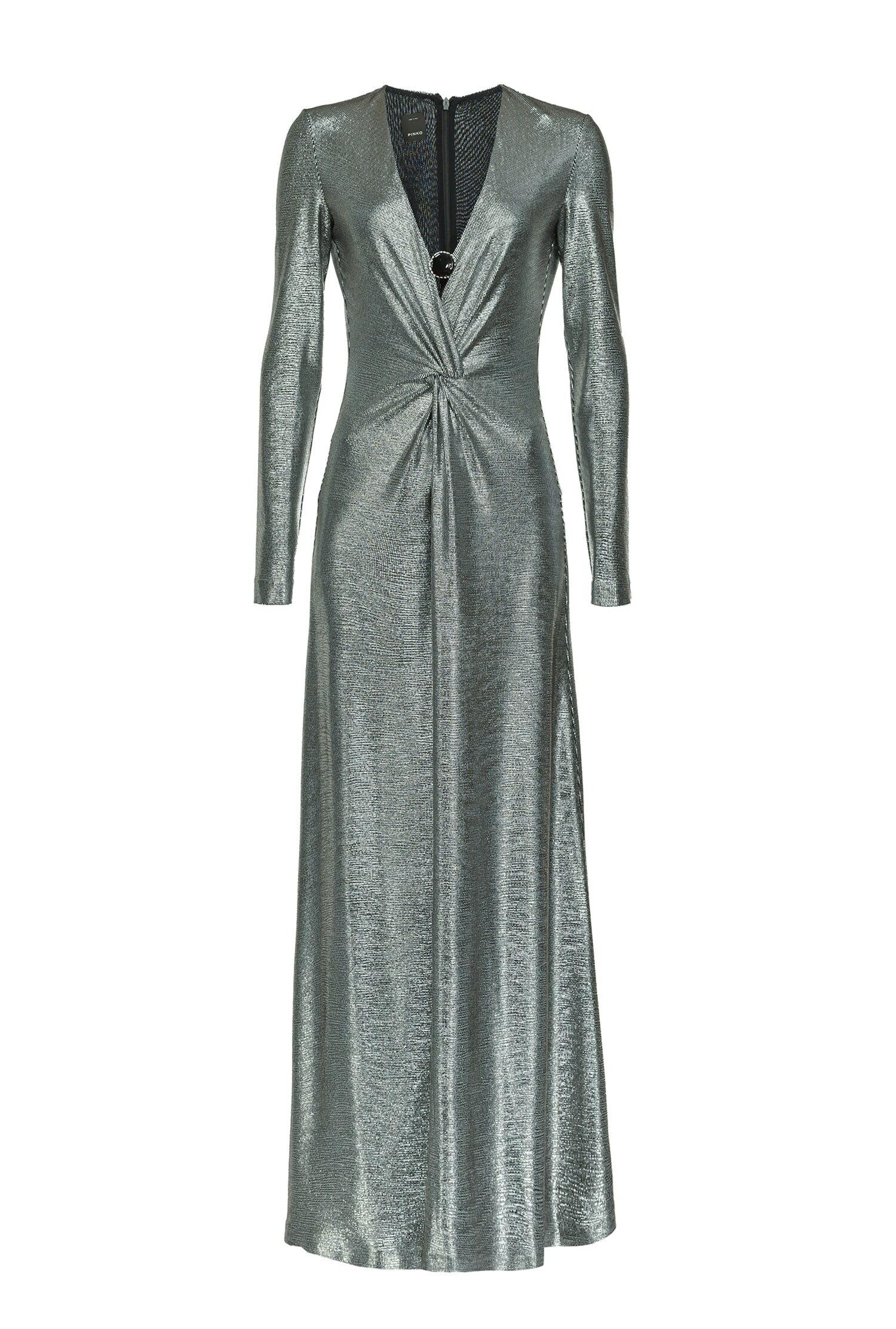 Long Dress In Laminated Jersey - Pinko