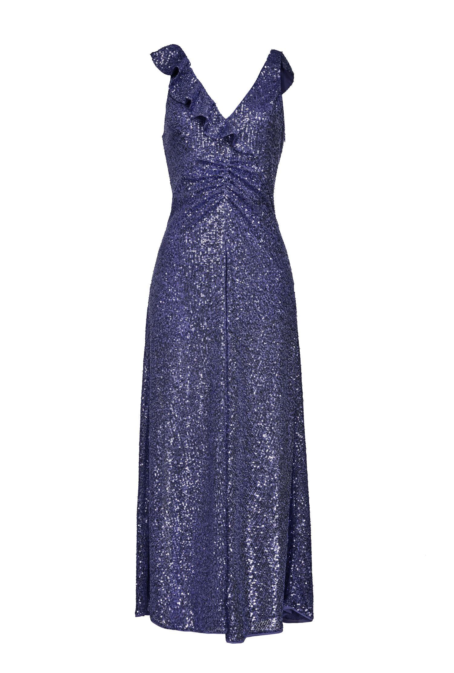 Full Sequins Dress With Ruffles - Pinko