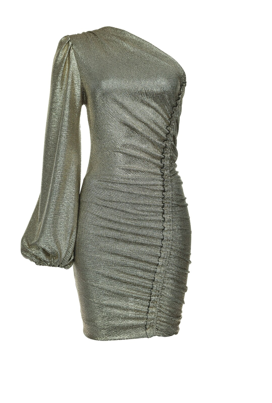 One Shoulder Dress In Laminated Jersey - Pinko