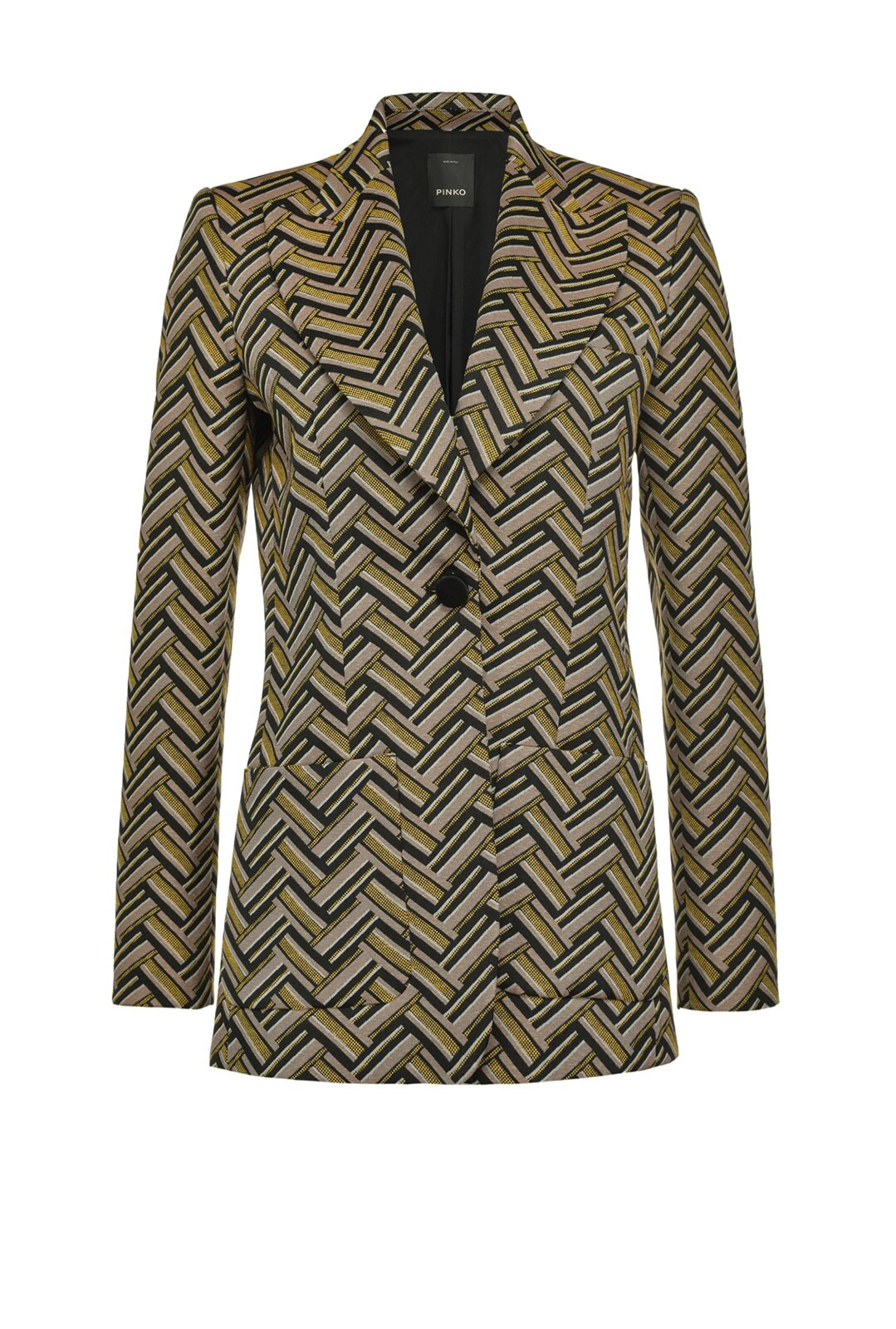 70s Jacquard Long Blazer - Pinko