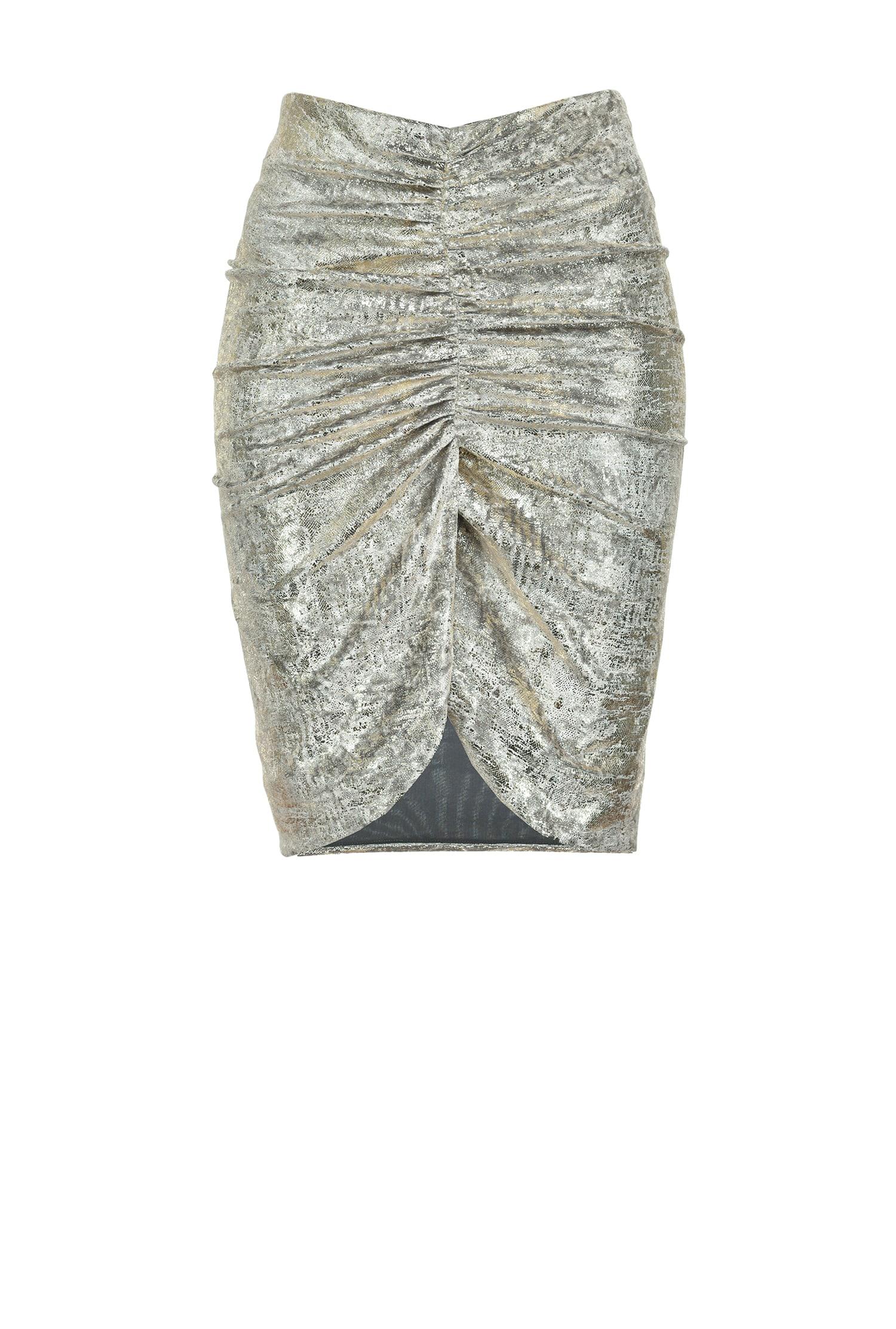 Laminated Chenille Jersey Miniskirt - Pinko