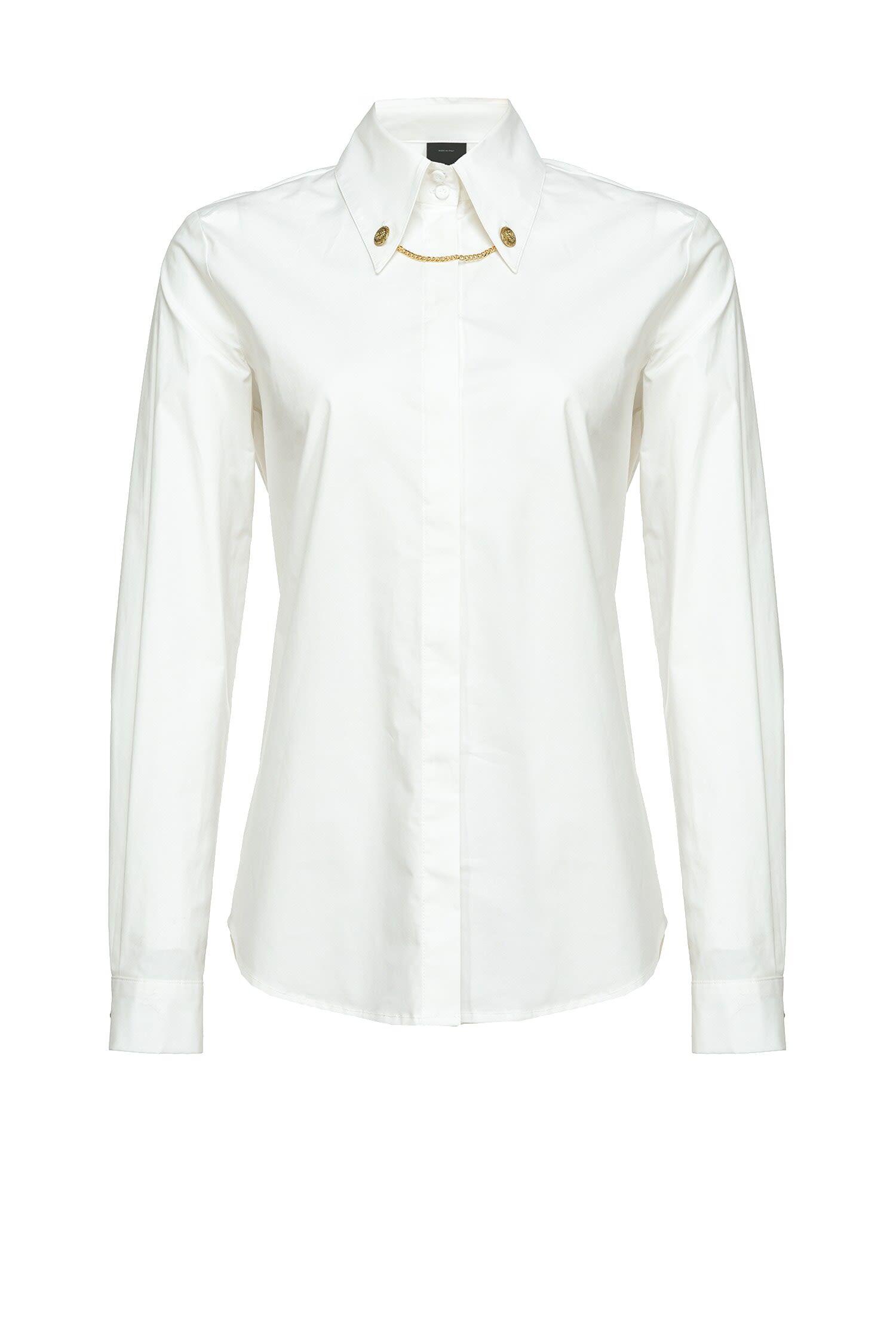 Shirt With Cufflinks On The Collar - Pinko