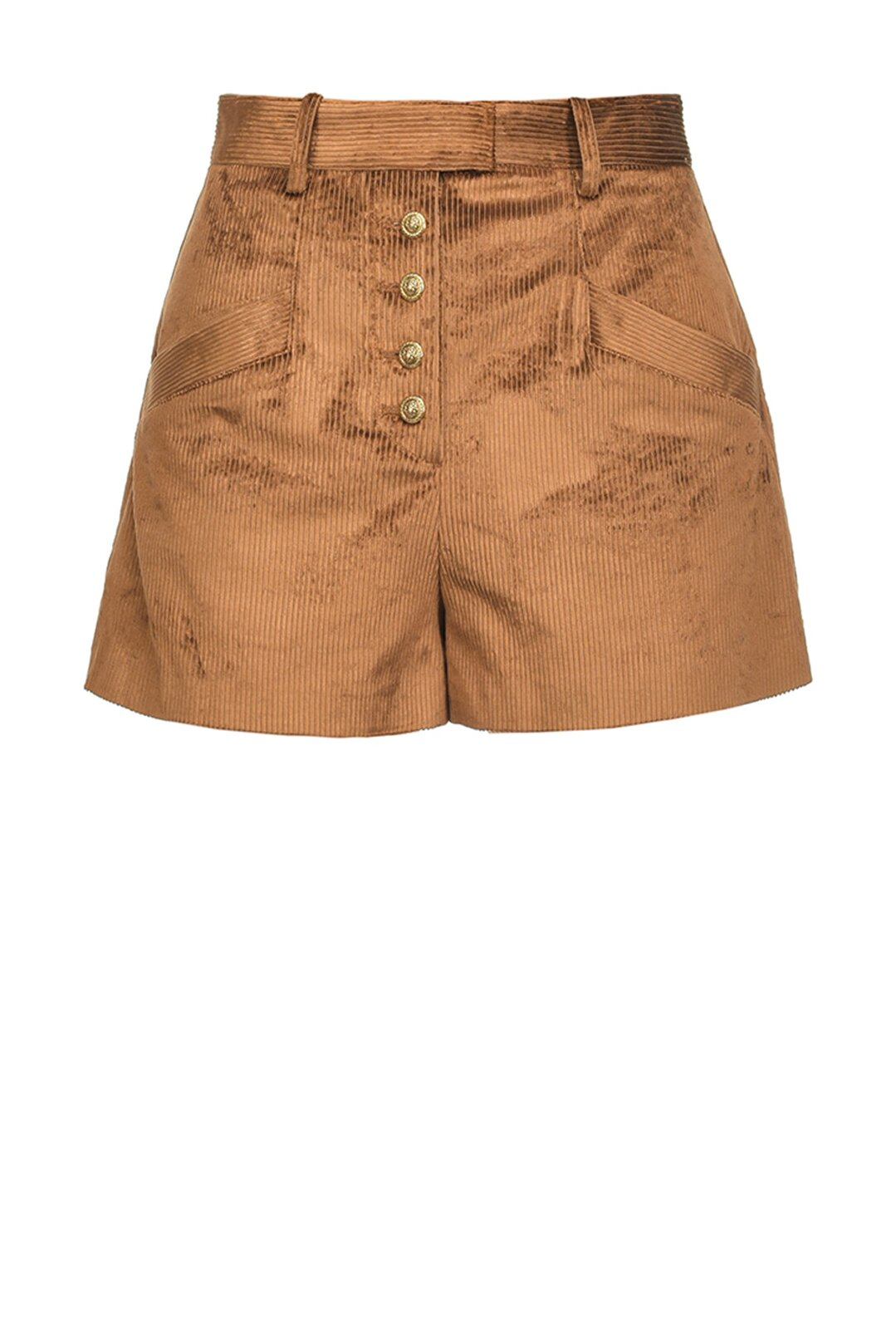 Shorts Ampi In Velluto A Coste - Pinko
