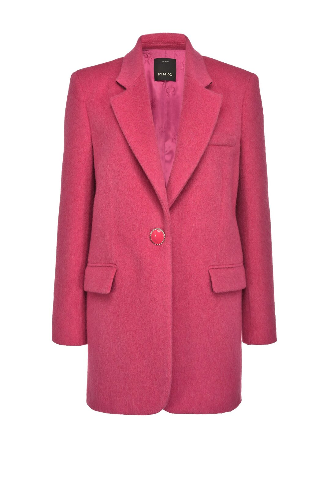 Giacca Blazer In Panno Mohair - Pinko