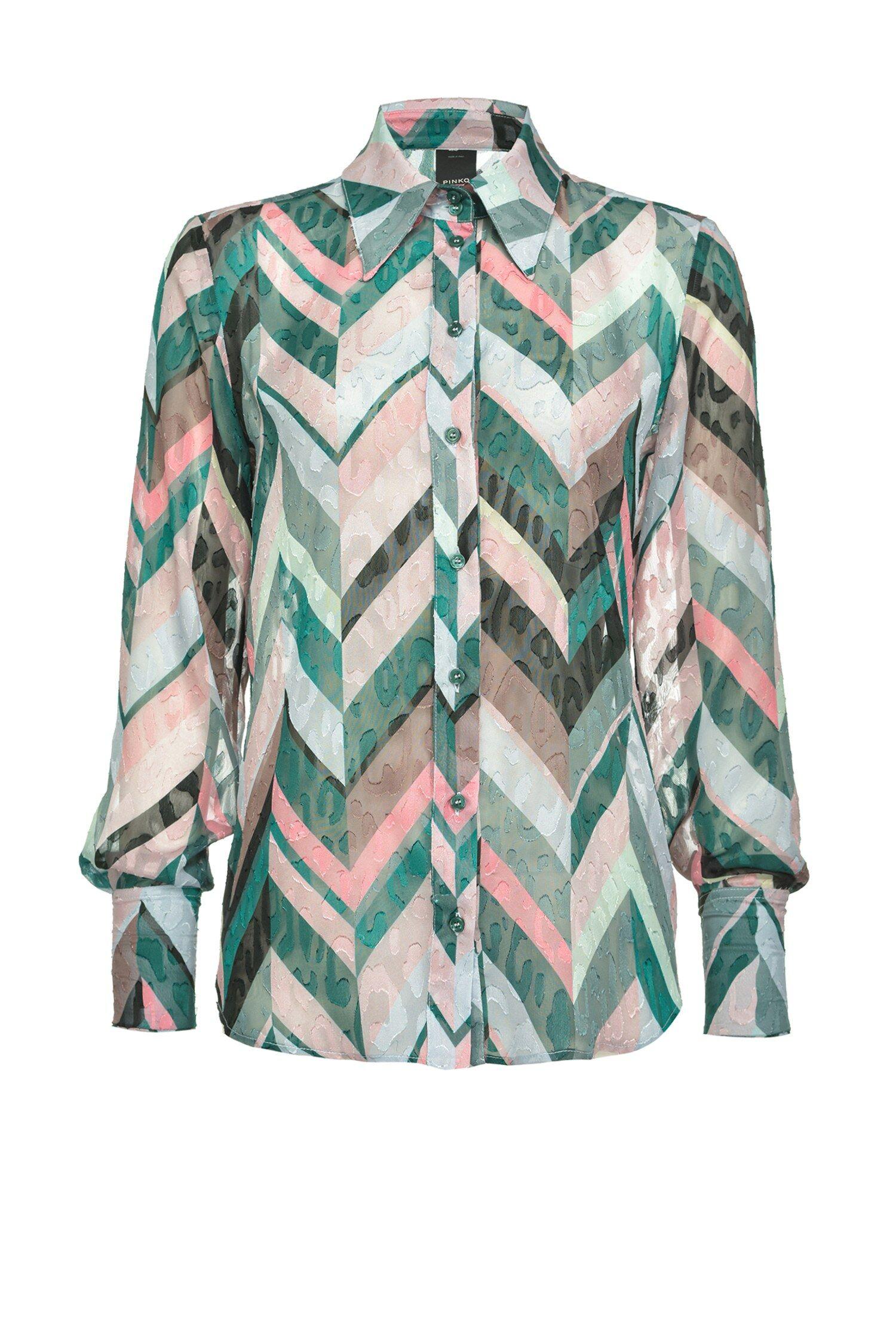 Camicia A Righe Chevron - Pinko