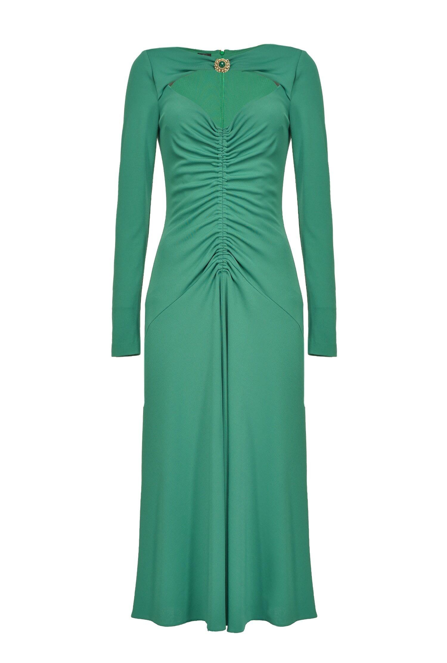 Dress With Jewel Brooch - Pinko