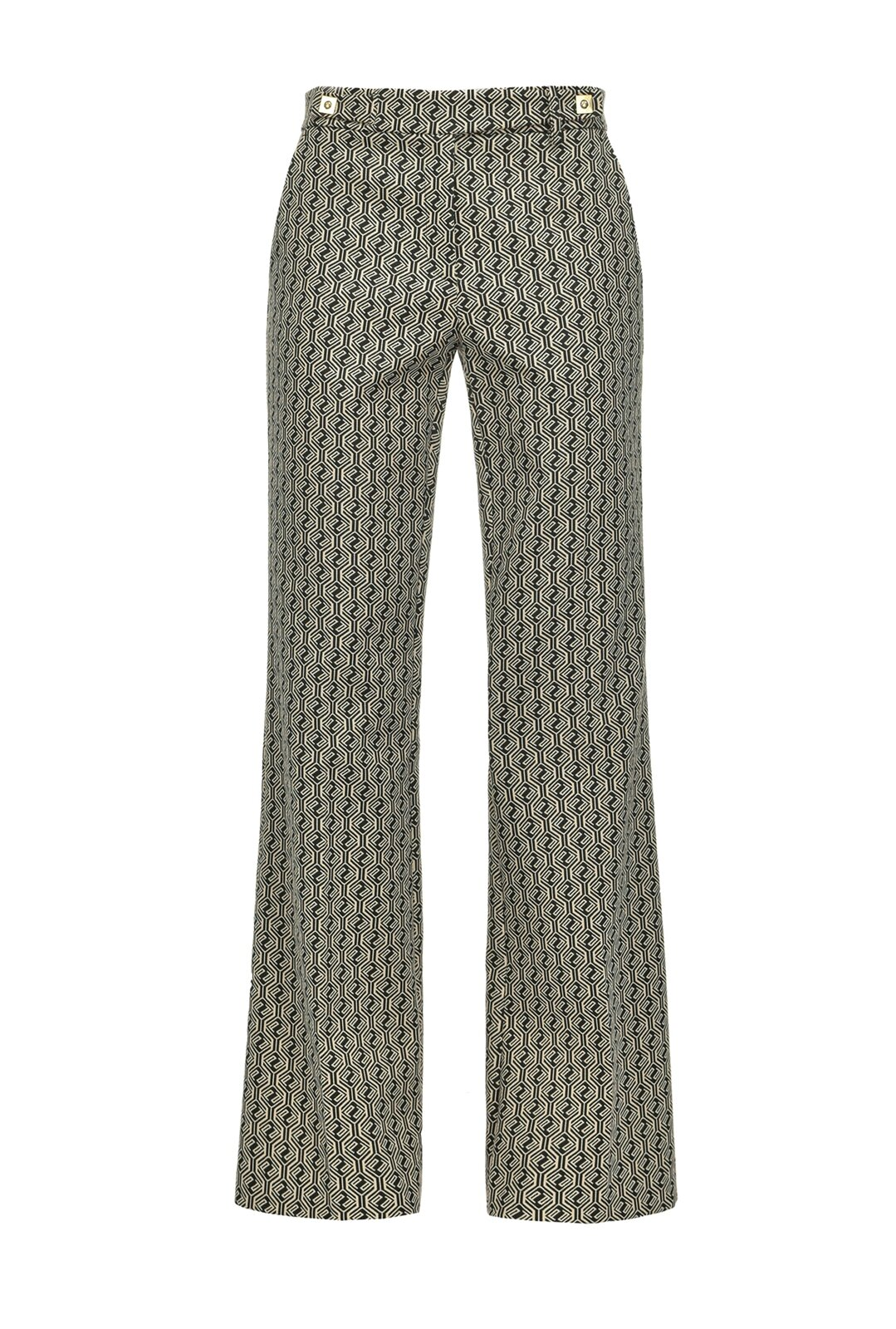 Flared Pants Geometric P Logo - Pinko
