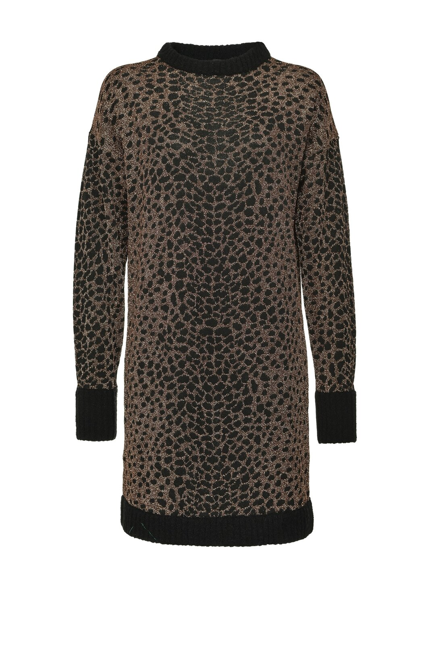 Ocelot Jacquard Lurex Knit Dress - Pinko