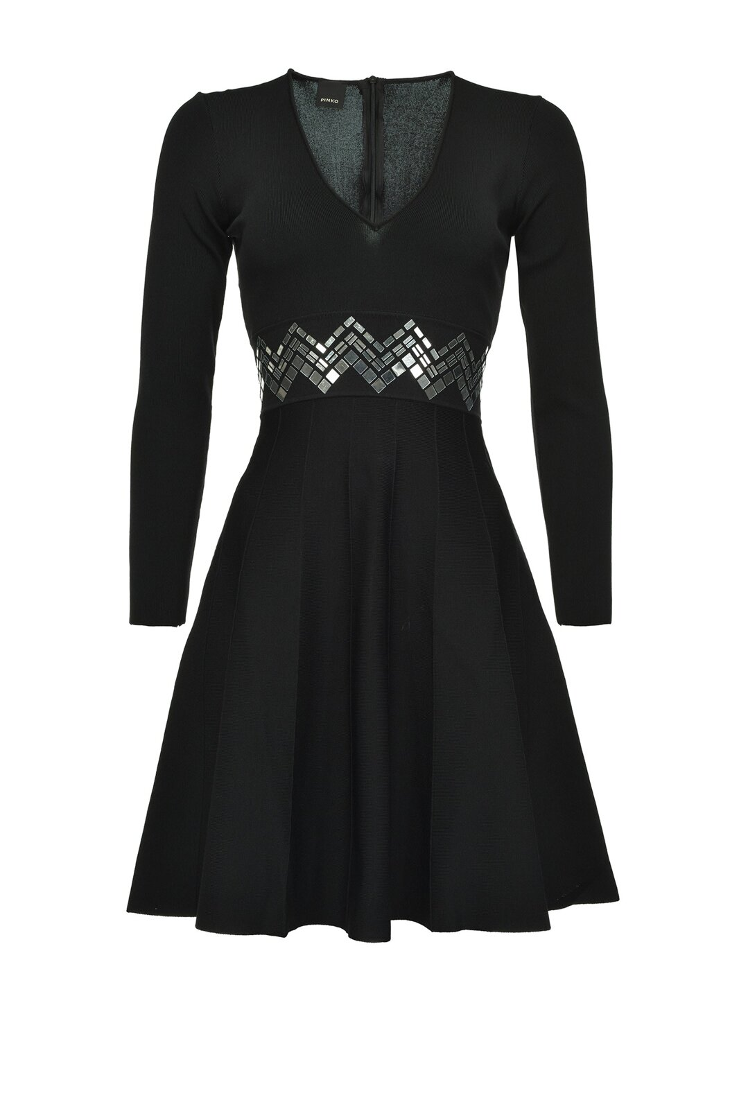 Knitted Dress With Mirrors - Pinko