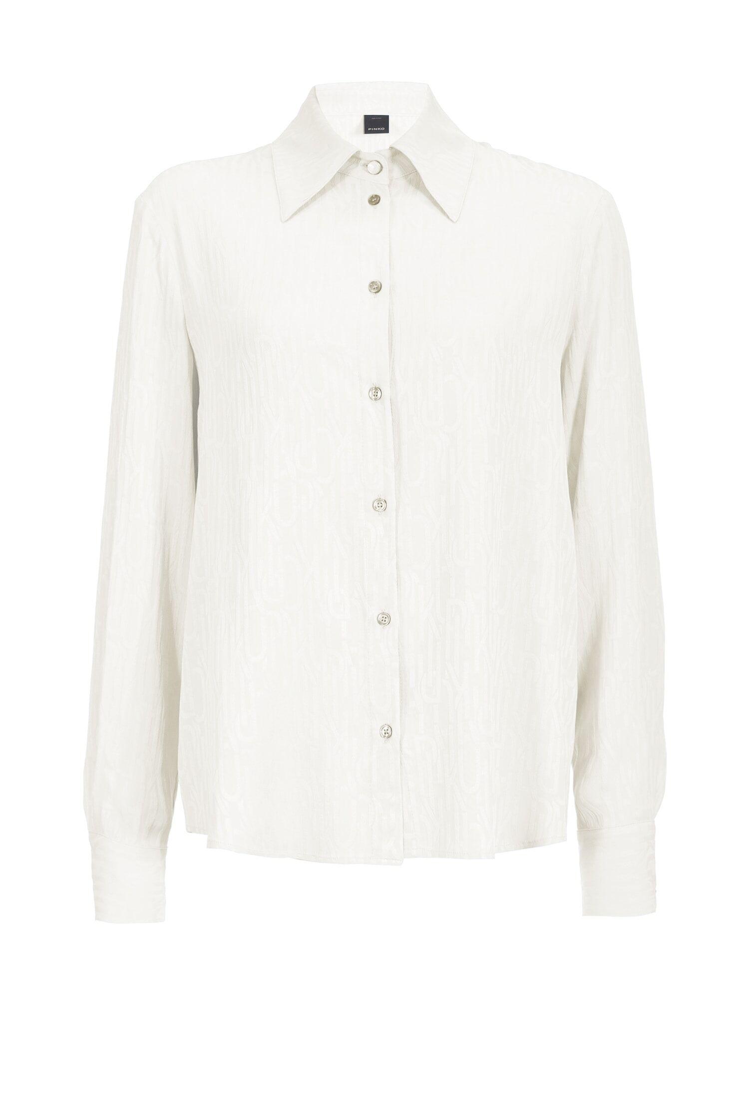 Camicia In Jacquard Chevron - Pinko