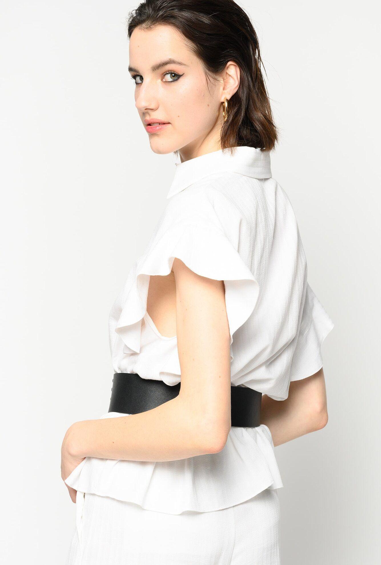 Camicia Con Maniche Ad Aletta - Pinko