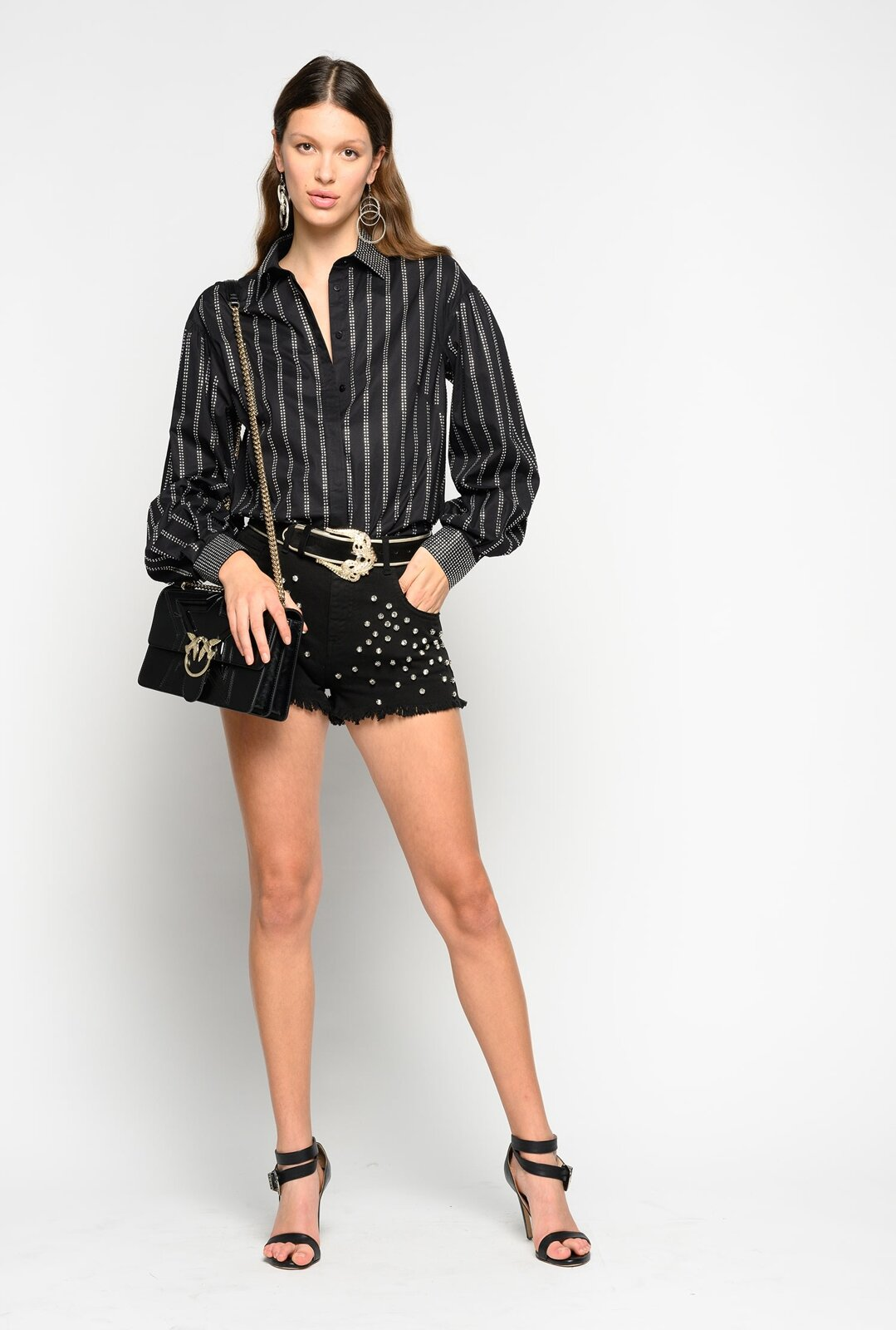 Shorts Con Strass - Pinko