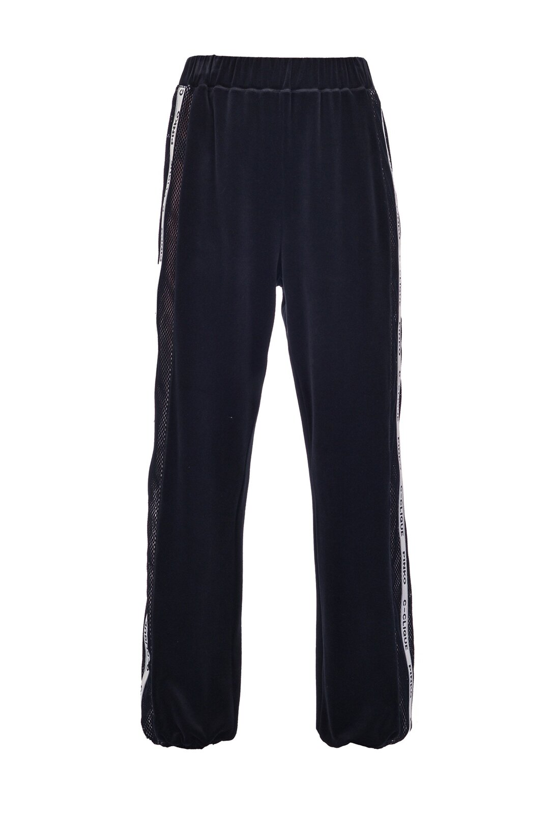 Chenille And Mesh Joggers - Pinko