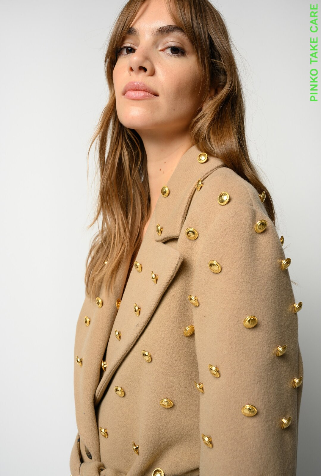 Robe Coat With Buttons Reimagine - Pinko