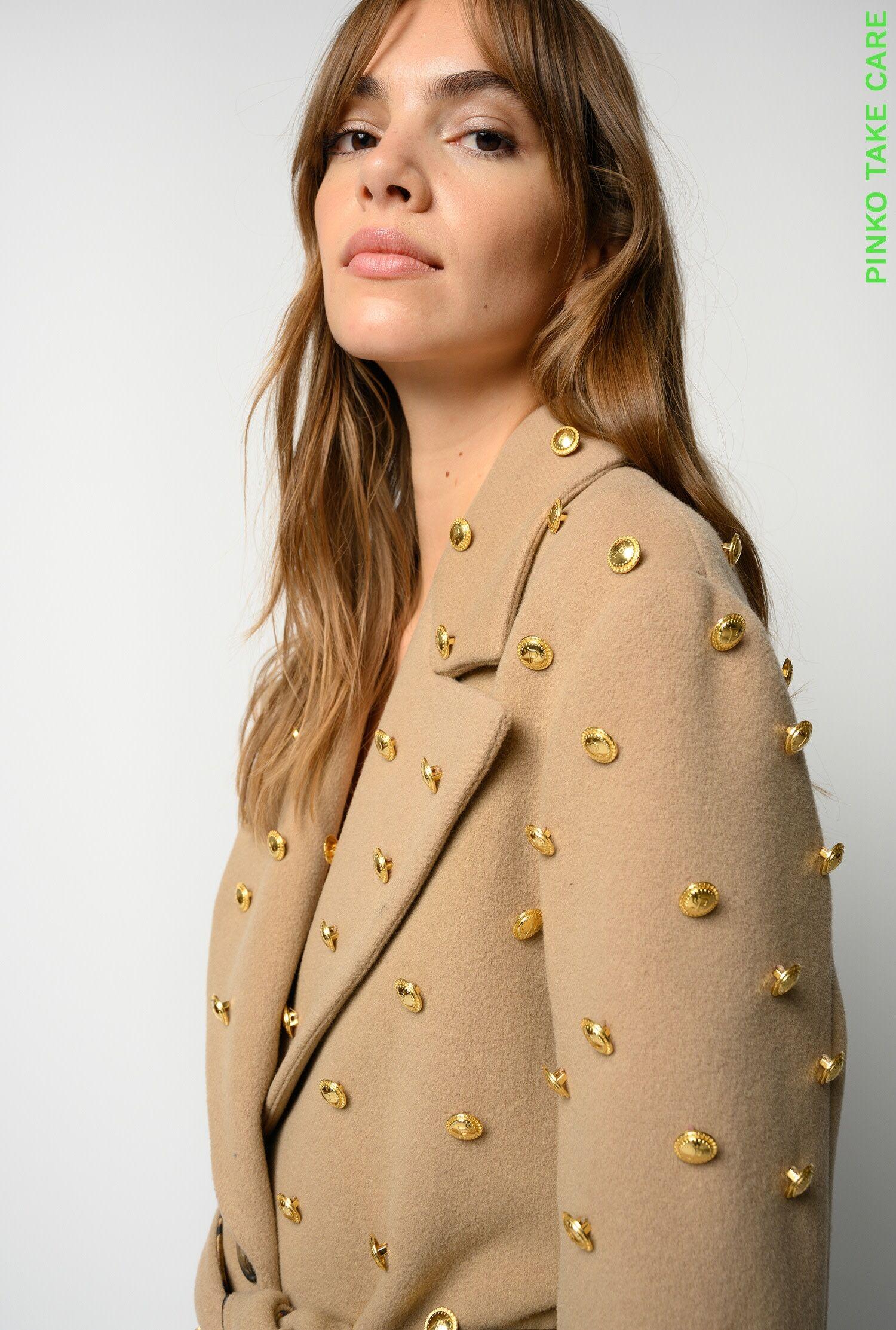 Cappotto A Vestaglia Con Bottoni Reimagine - Pinko