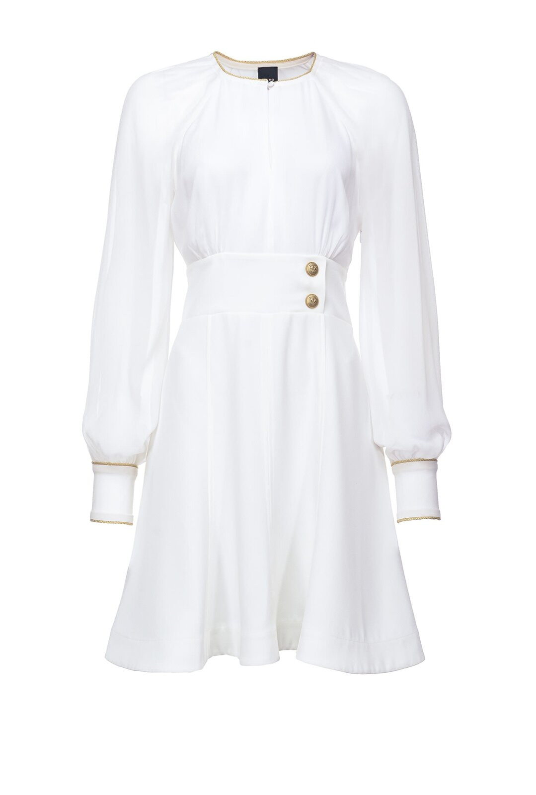 Dress With Golden Piping - Pinko
