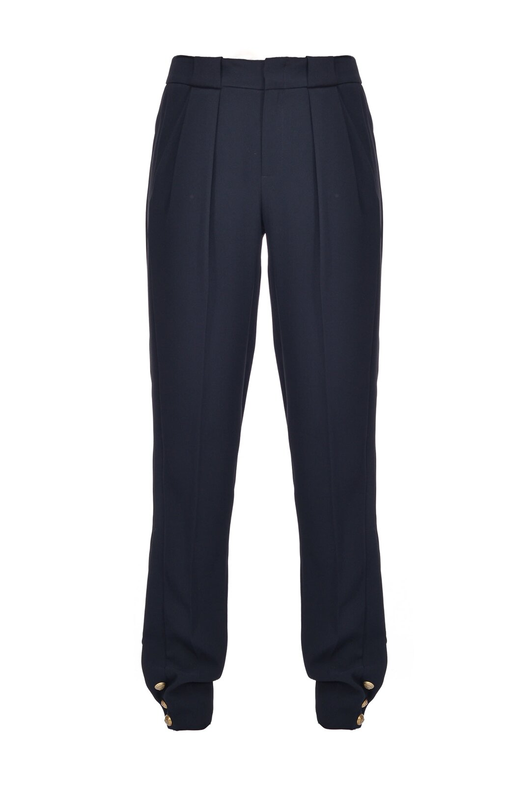 Trousers With Buttons At The Bottom - Pinko