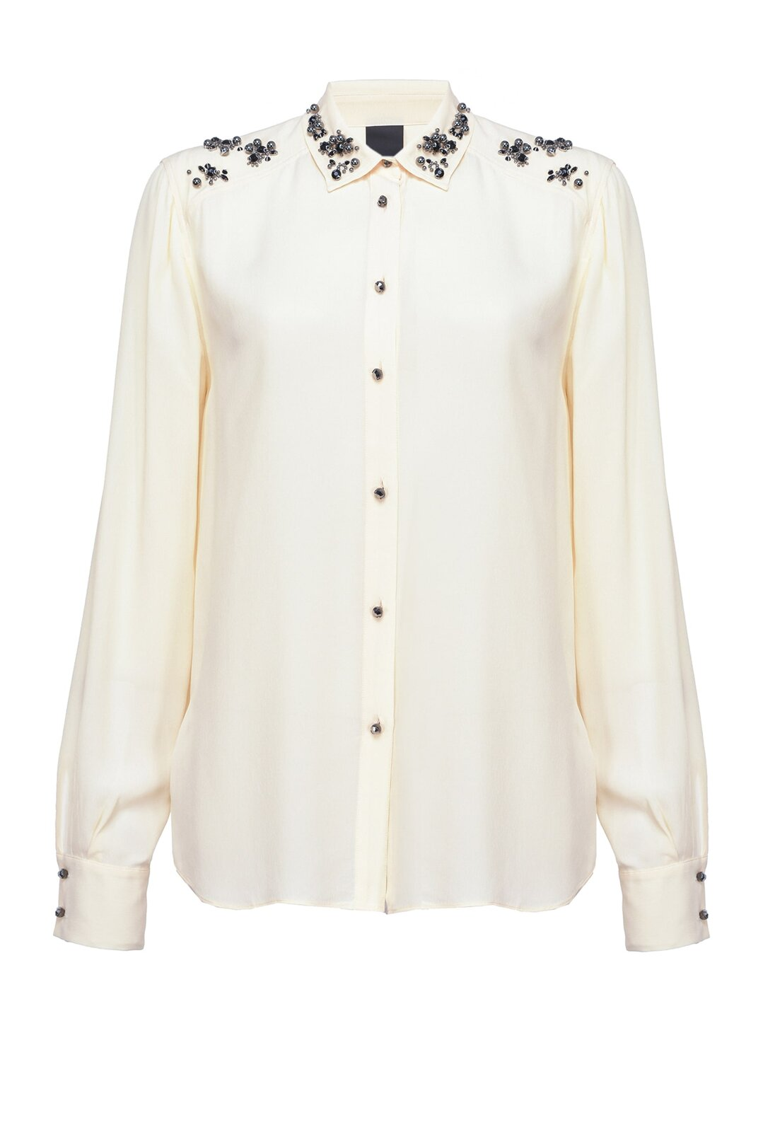 Shirt With Jewel Applications - Pinko