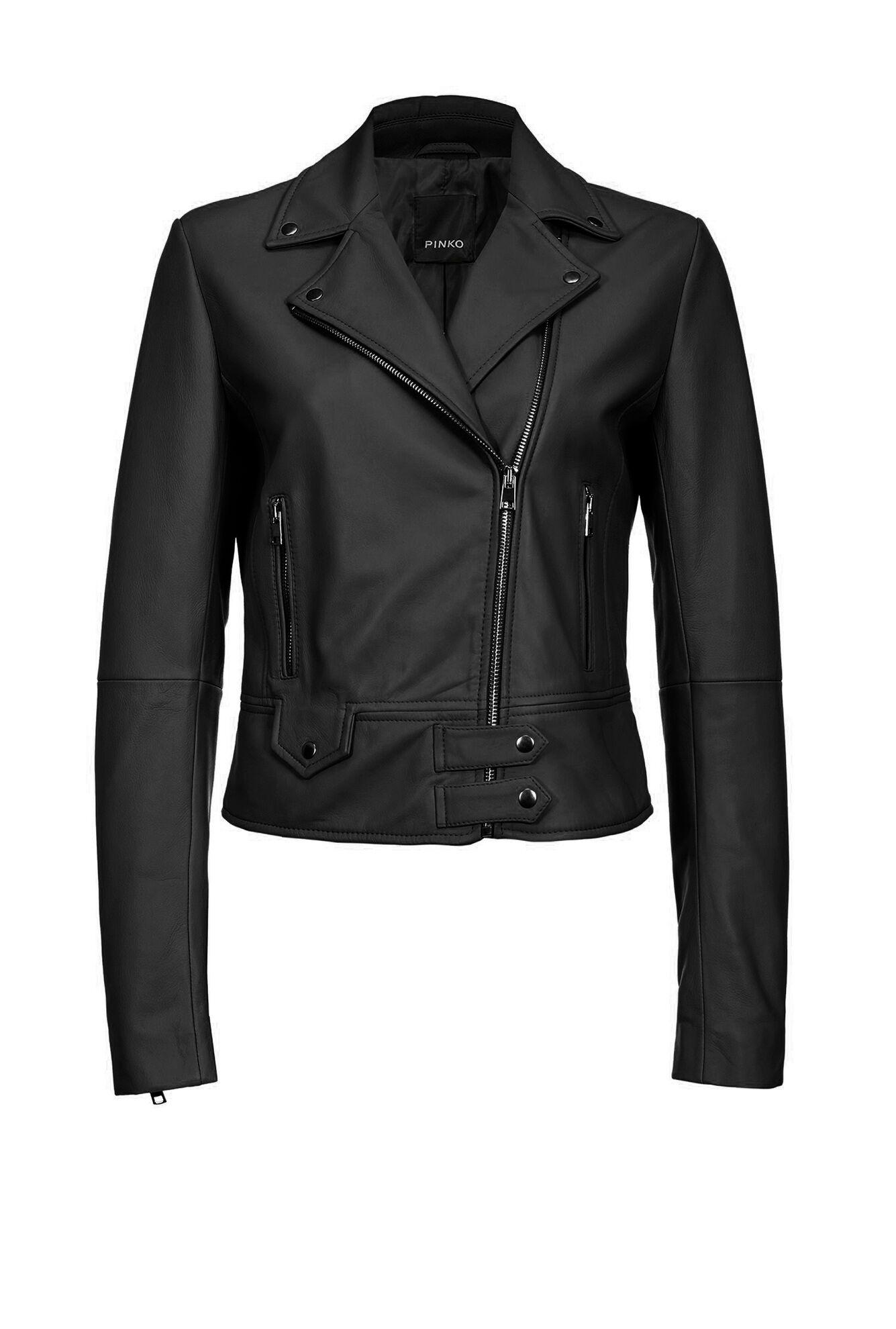 Leather Biker Jacket - Pinko