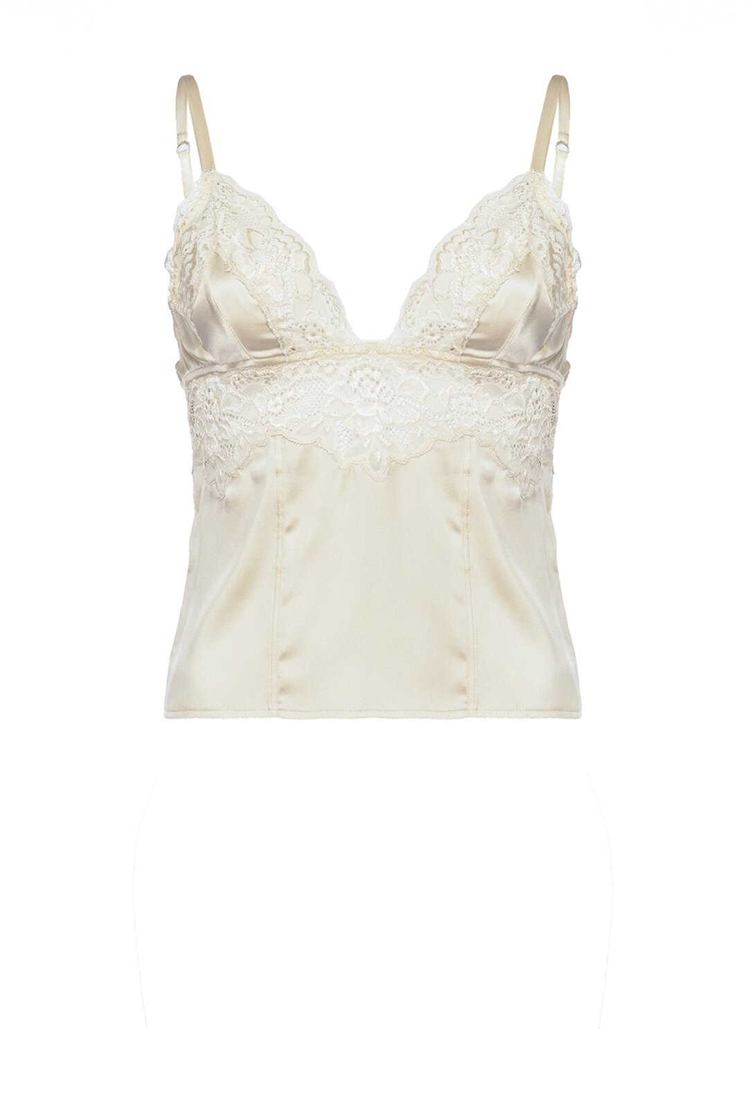 Top Lingerie In Satin And Lace - Pinko