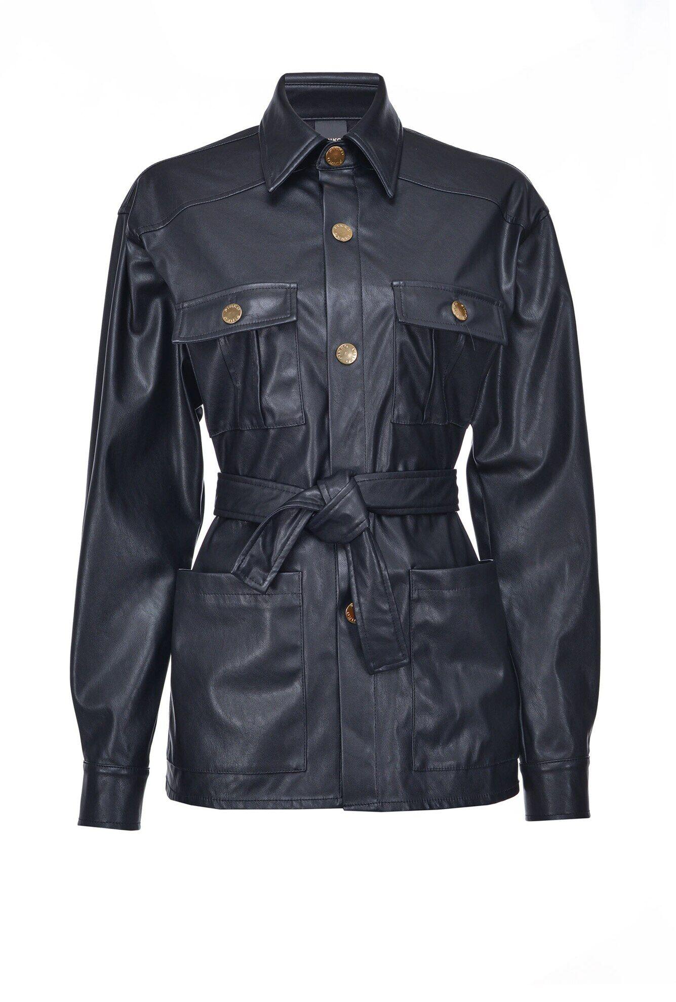 Leather Effect Jacket - Pinko