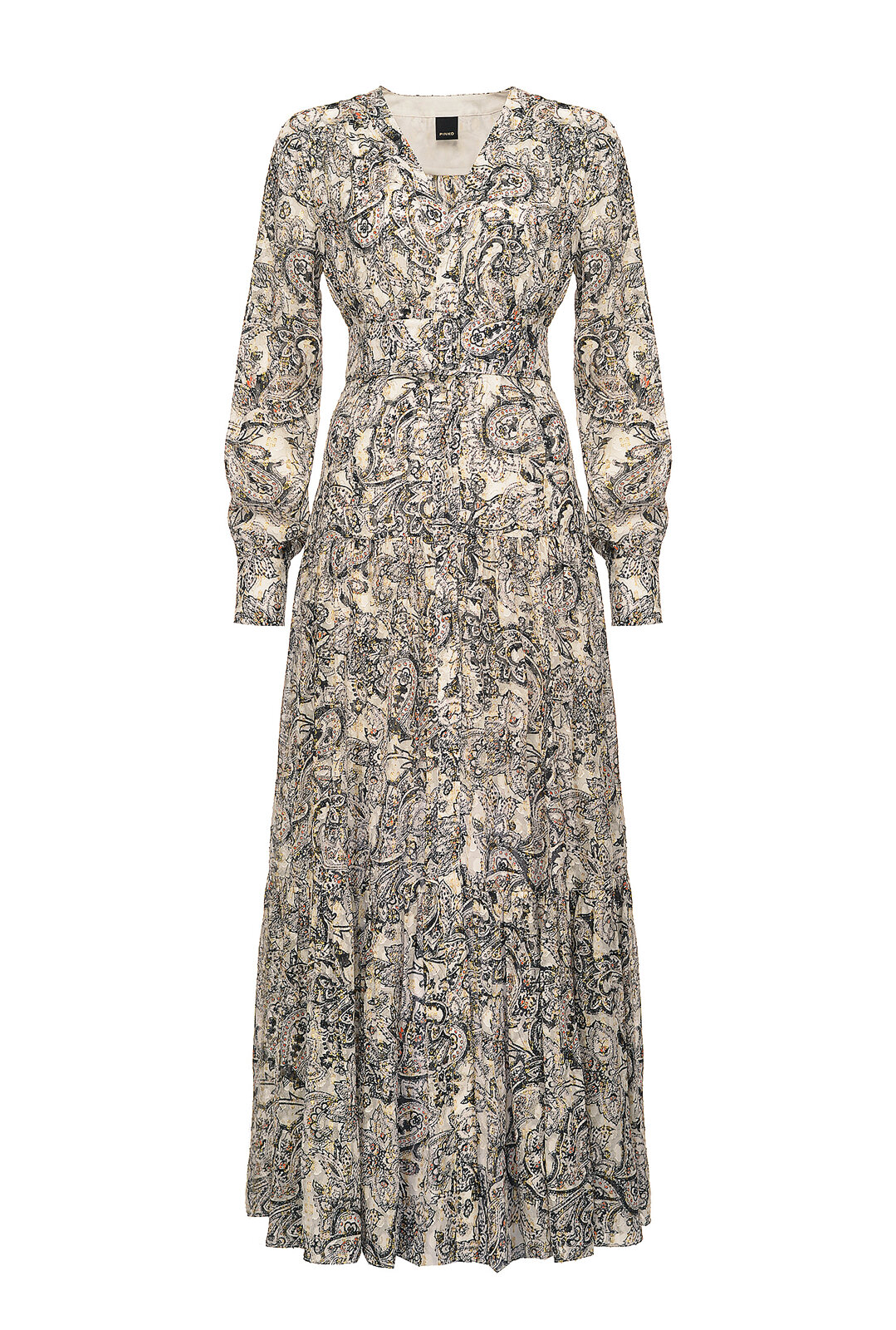 Long 70S Print Dress - Pinko