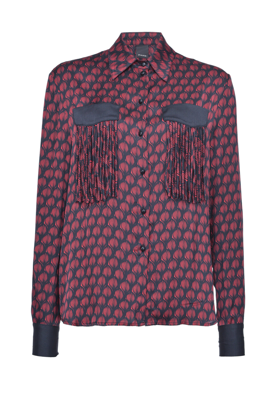 Shirt With Fringes In Front - Pinko