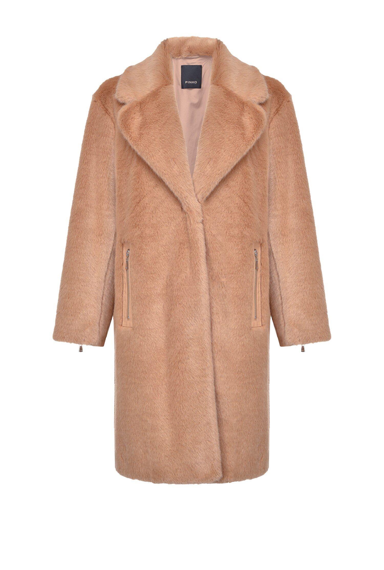 Cappotto Faux Fur Visone - Pinko