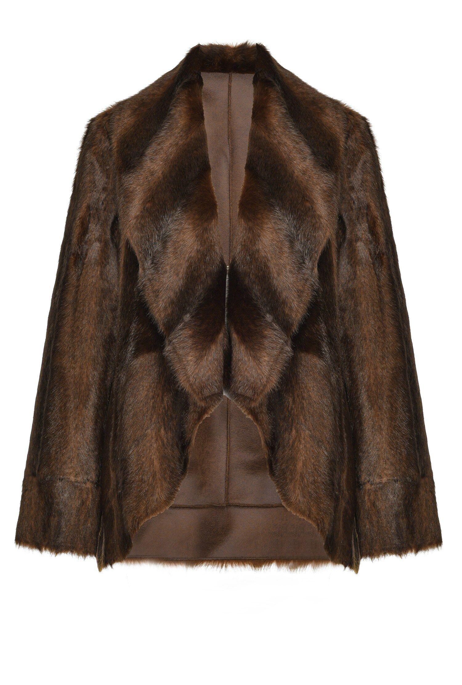 Caban Reversibile Faux Fur Visone - Pinko