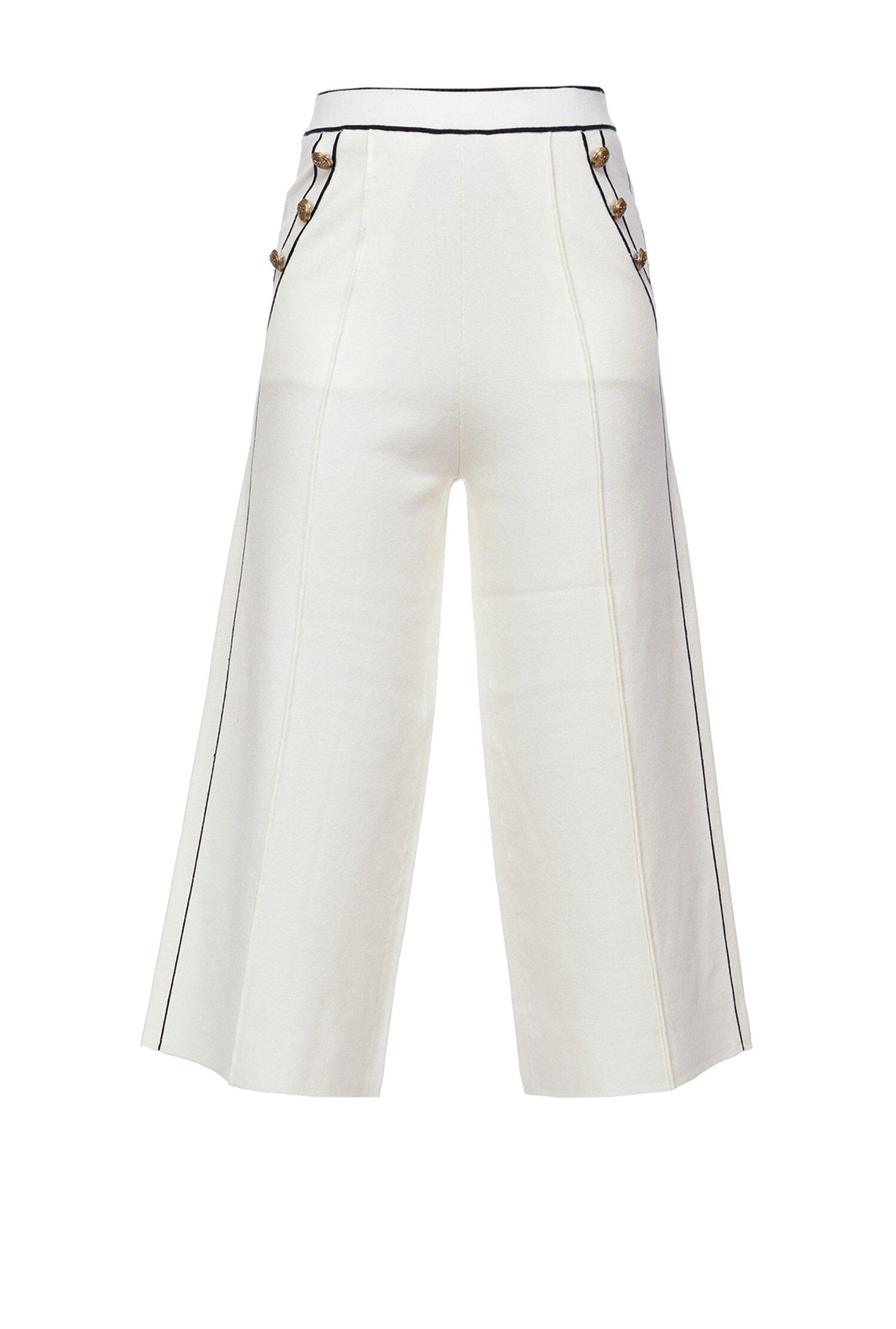 Pantaloni Culotte Marinière - Pinko