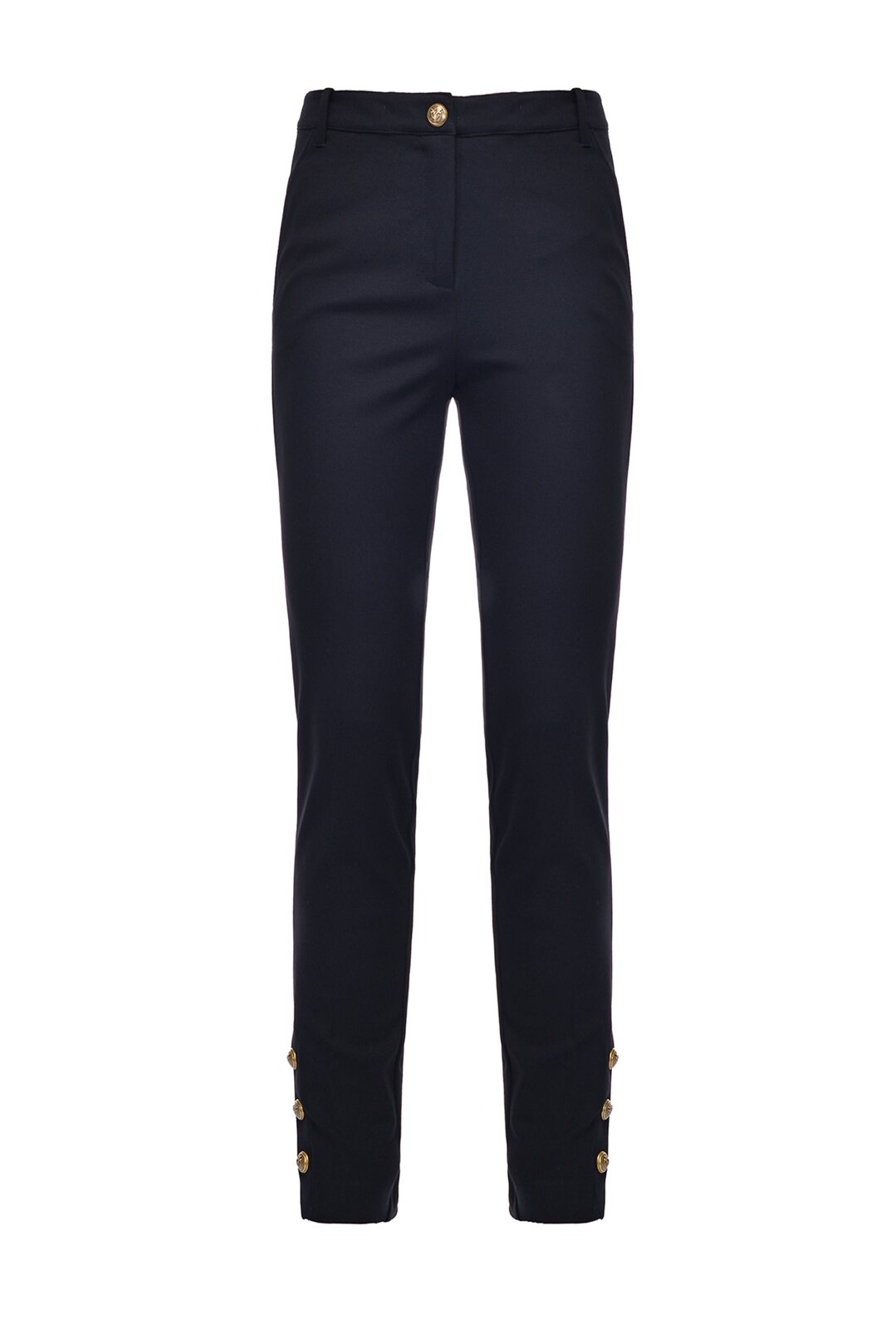 Fitted Pants With Buttons At The Bottom - Pinko
