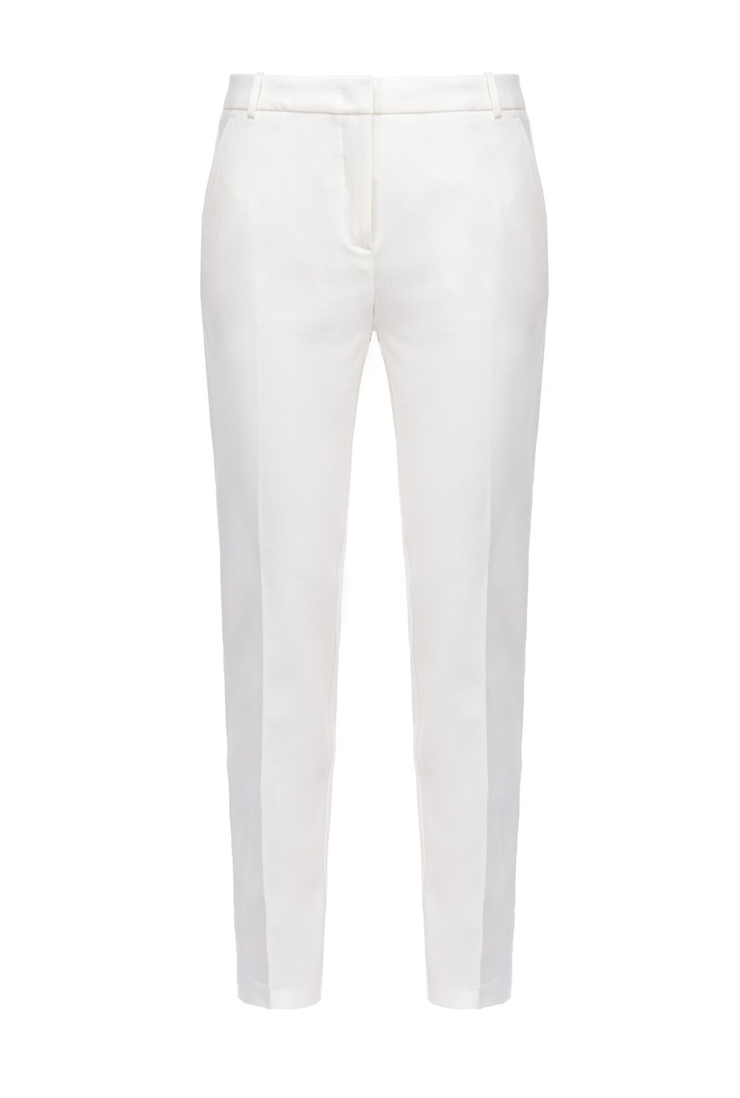 Cigarette-Fit Pants In Stitch Cloth - Pinko