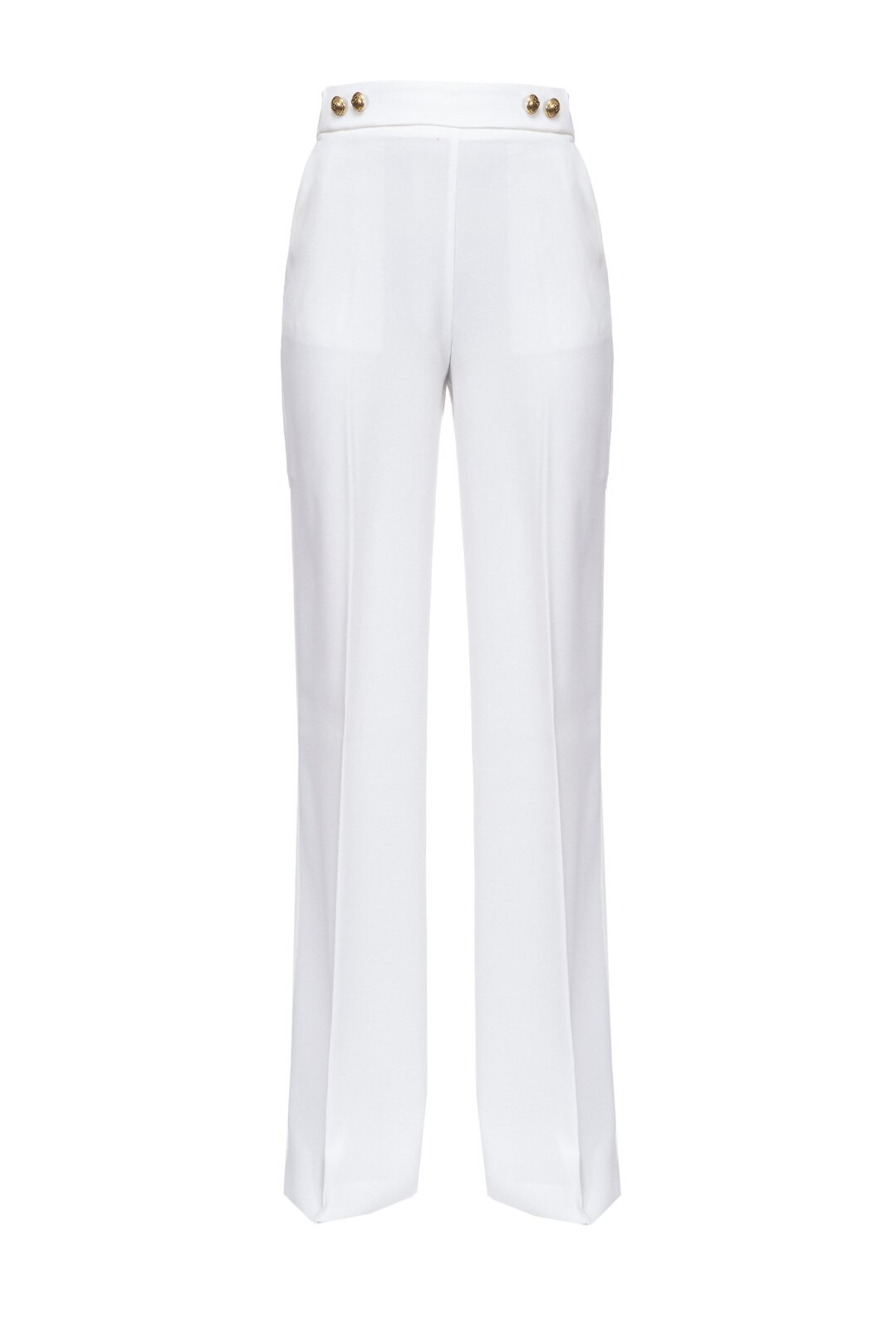 High Waisted Pants With Golden Buttons - Pinko