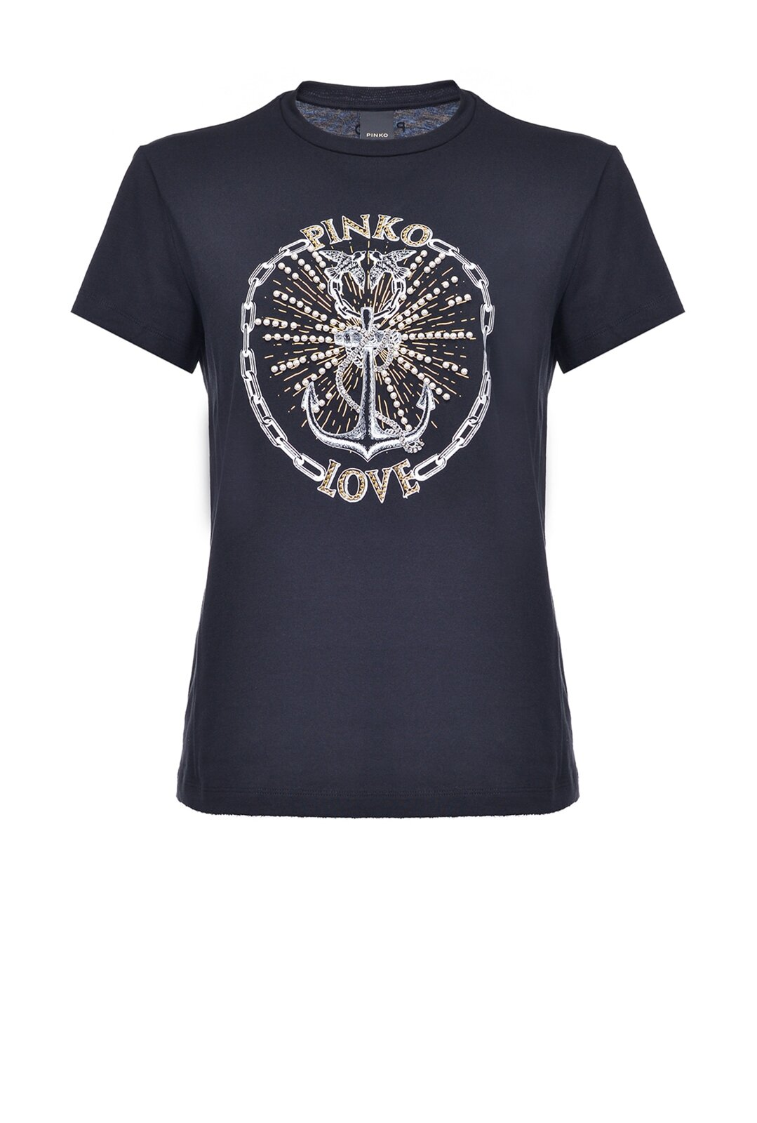 Pinko Love T-Shirt With Anchor Print - Pinko
