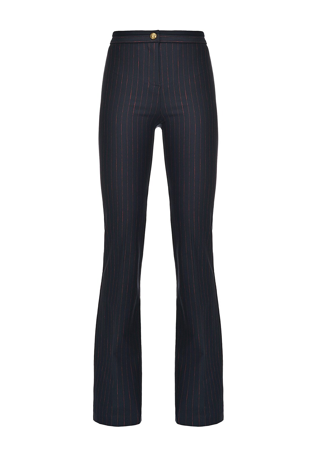 Flared Pinstripe Trousers - Pinko