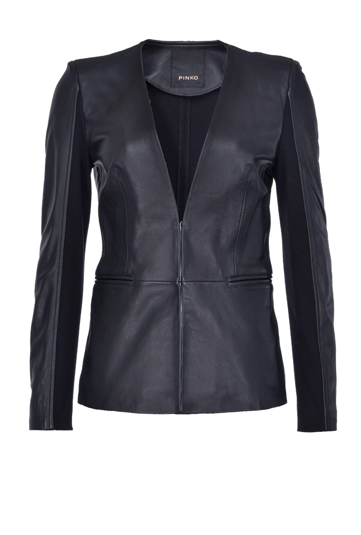 Long Bimaterial Jacket - Pinko