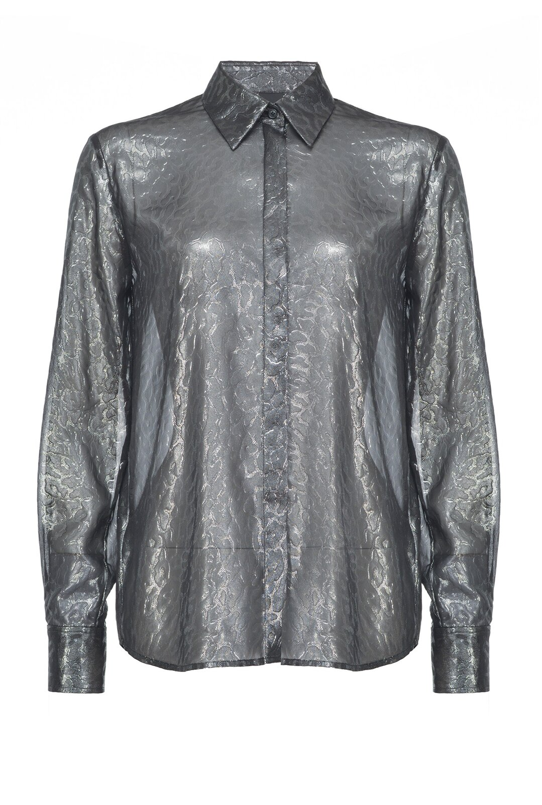 Spotted Print Laminated Georgette Shirt - Pinko