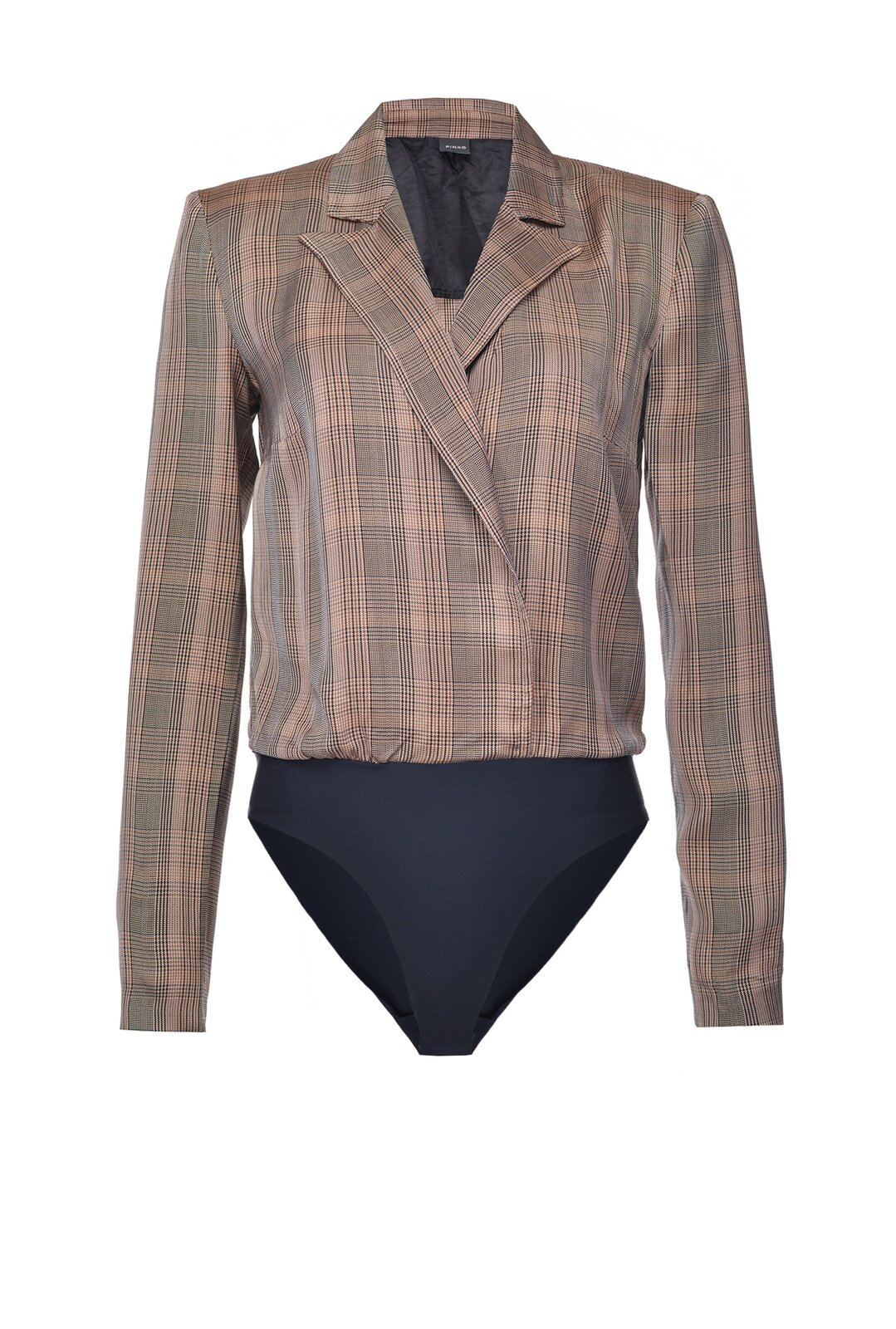 Check Design Body Jacket - Pinko