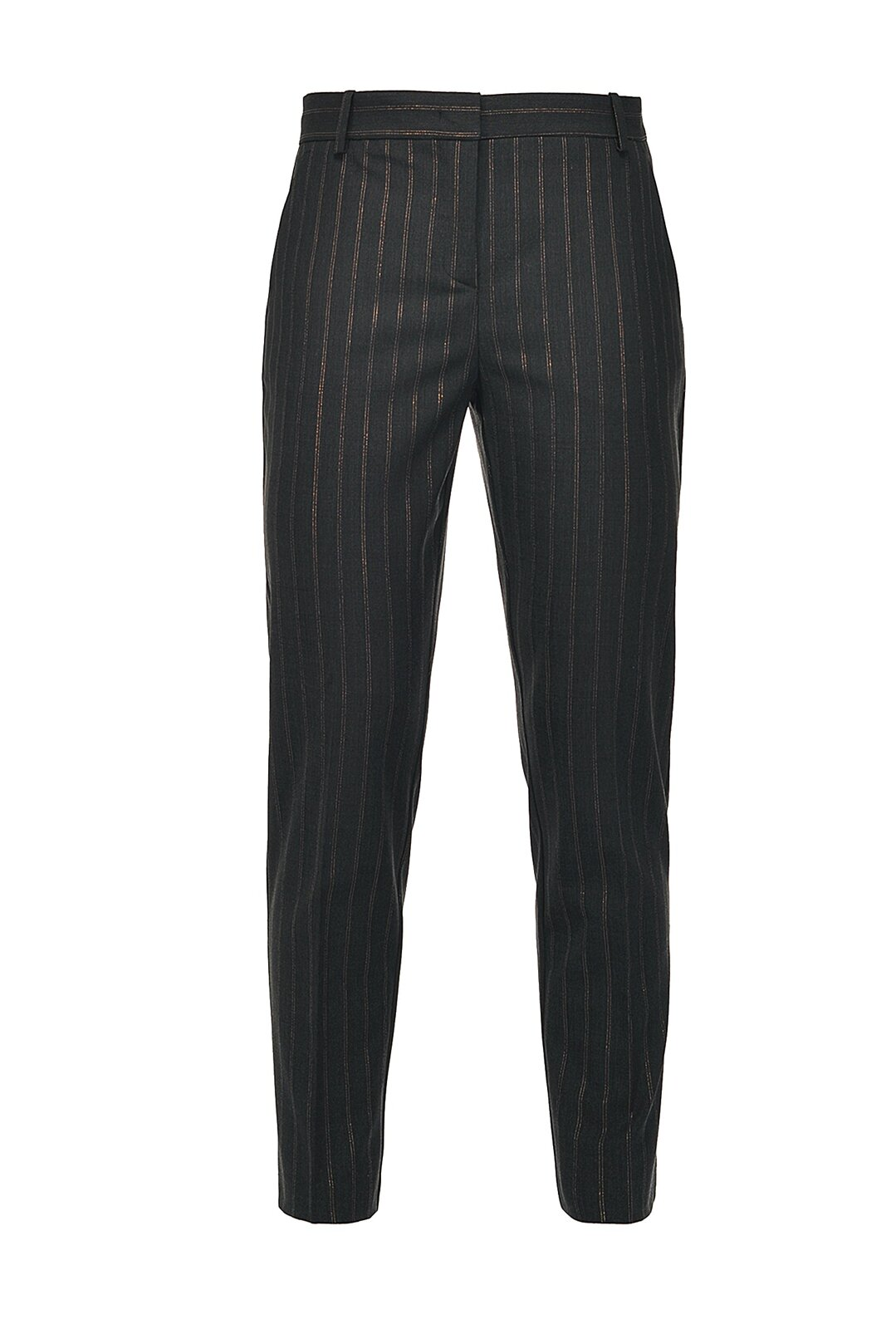 Lurex Pinstripe Cigarette-Fit Trousers - Pinko