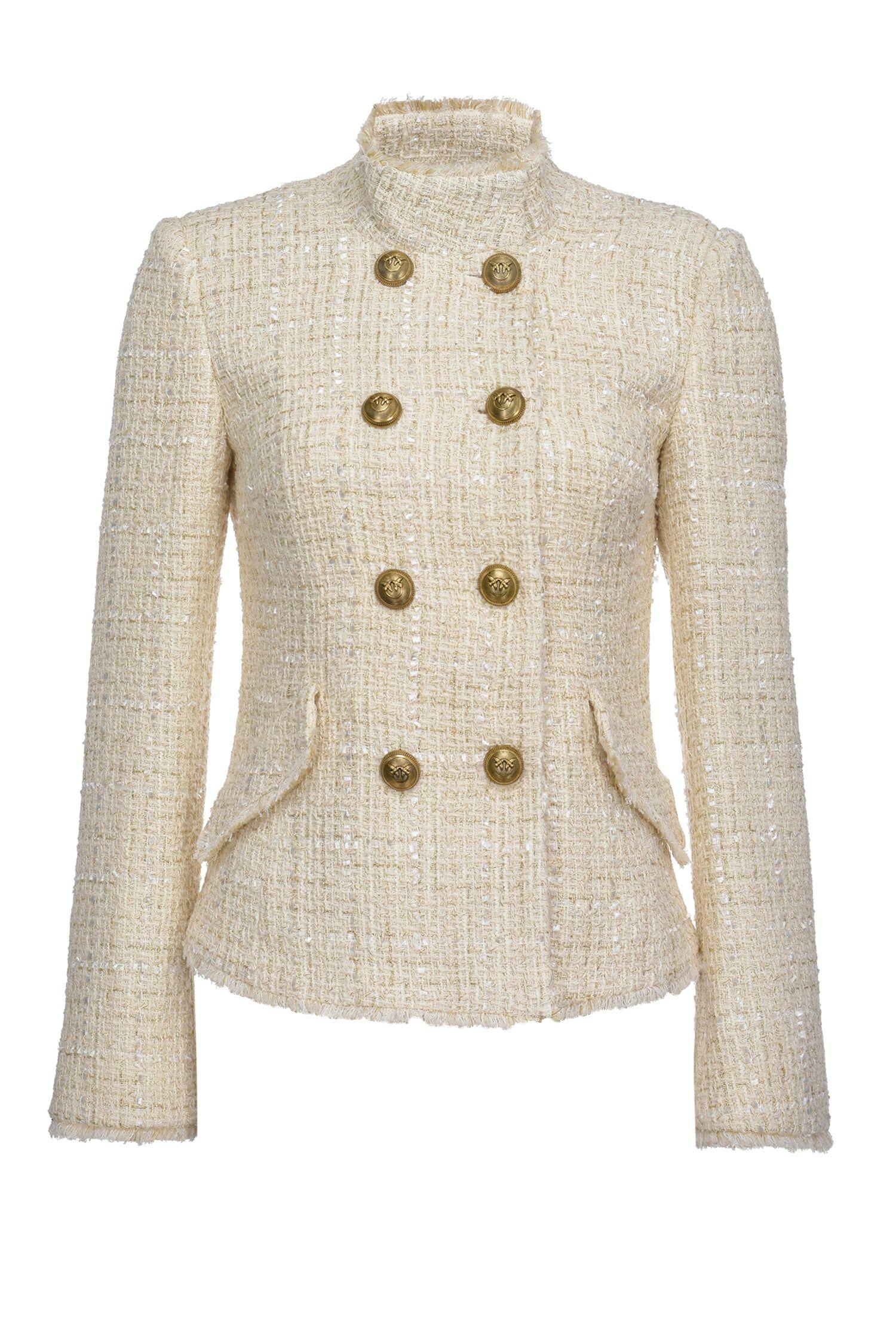 Caban Jacket In Tweed Lurex - Pinko
