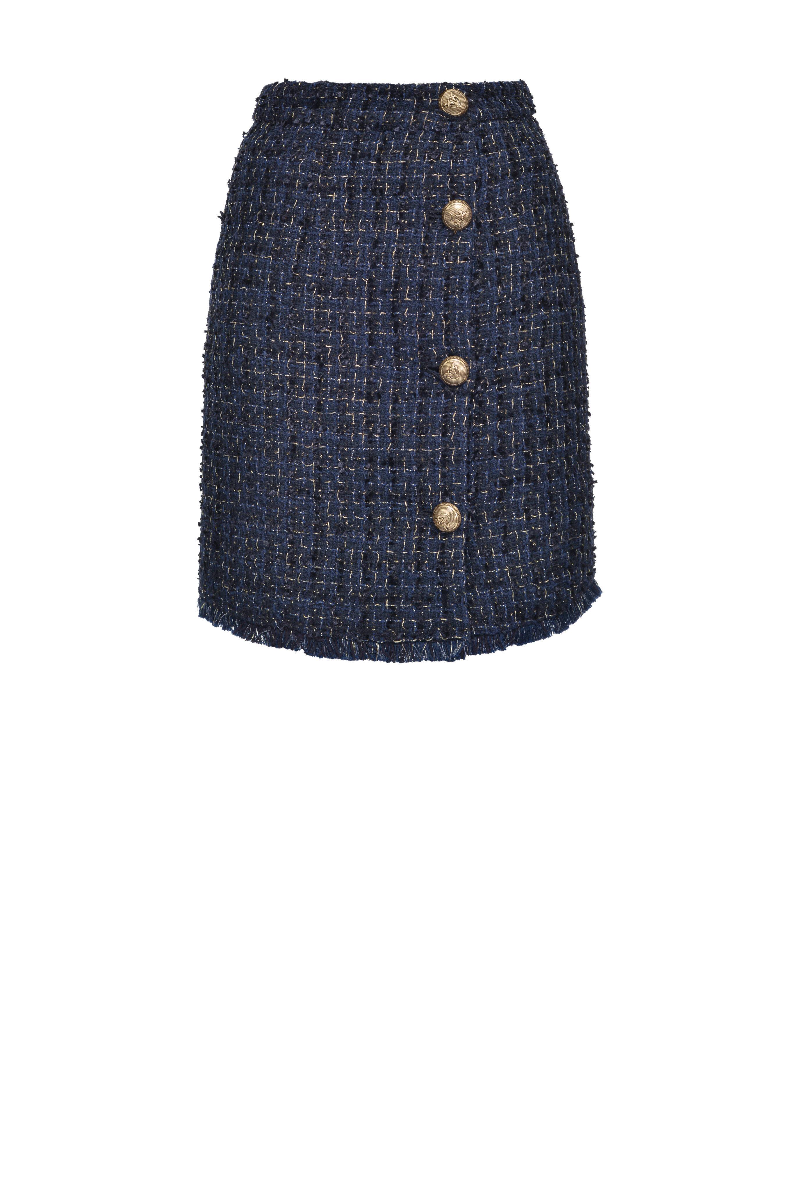 Minigonna In Tweed Lurex - Pinko