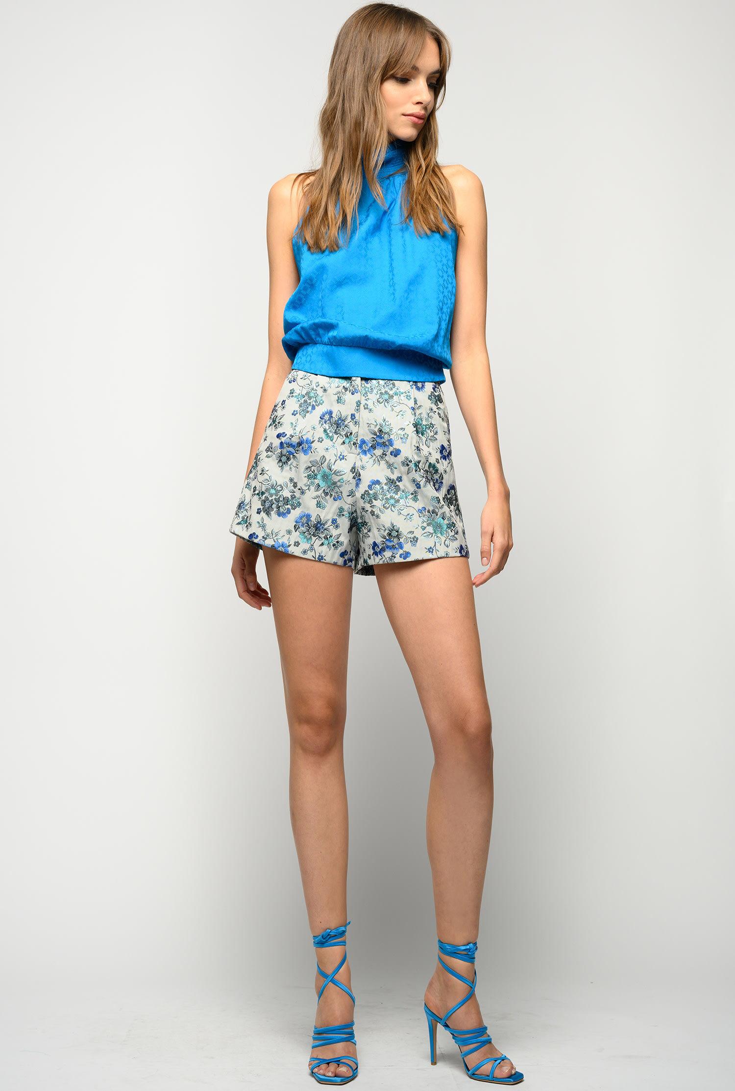 Shorts In Broccato Floreale - Pinko